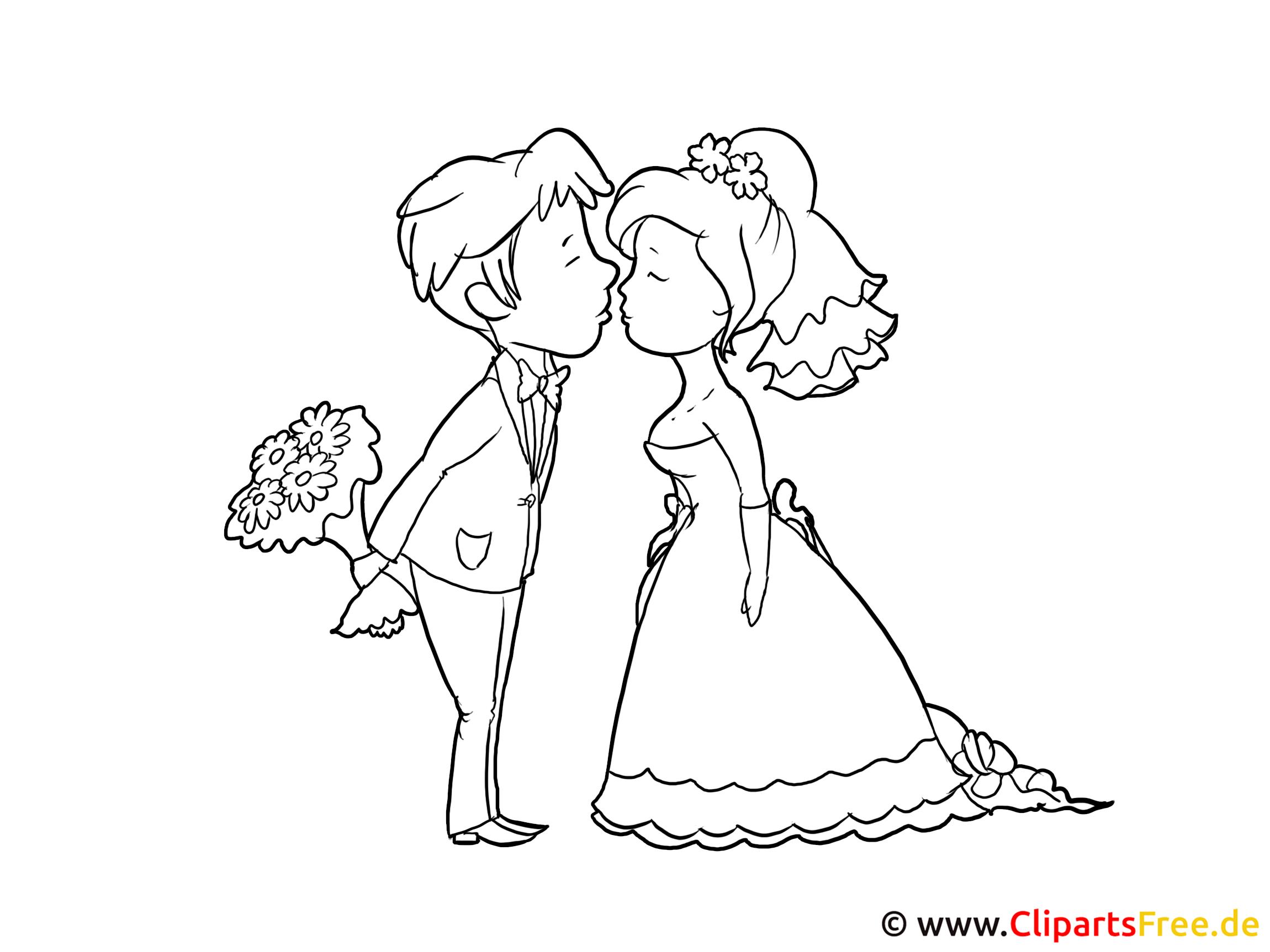 clipart kostenlos brautpaar - photo #2