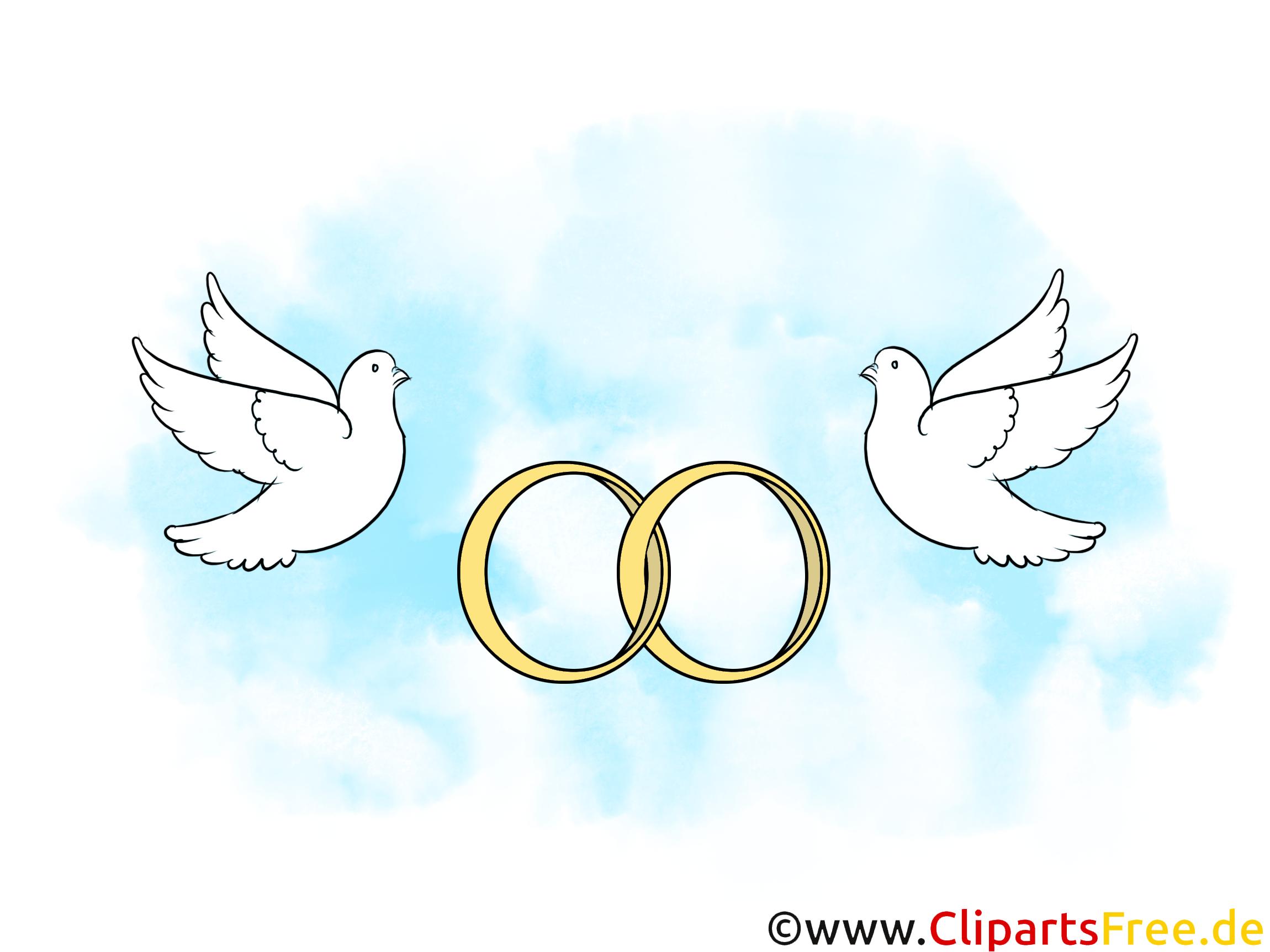 Eheringe mit Tauben Hochzeitsbilder, Cliparts