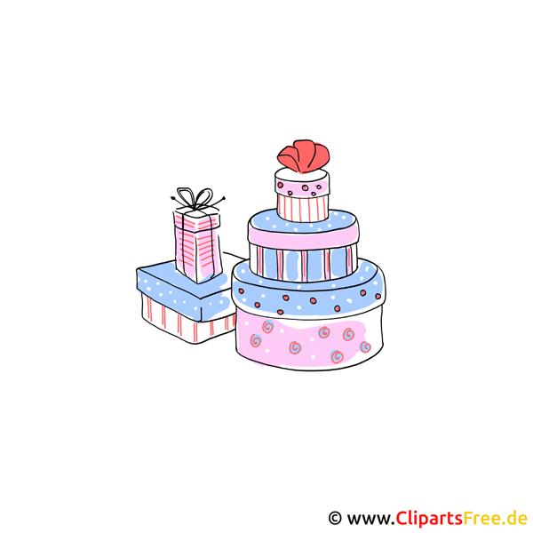 Geschenke zu Hochzeit Cliparts