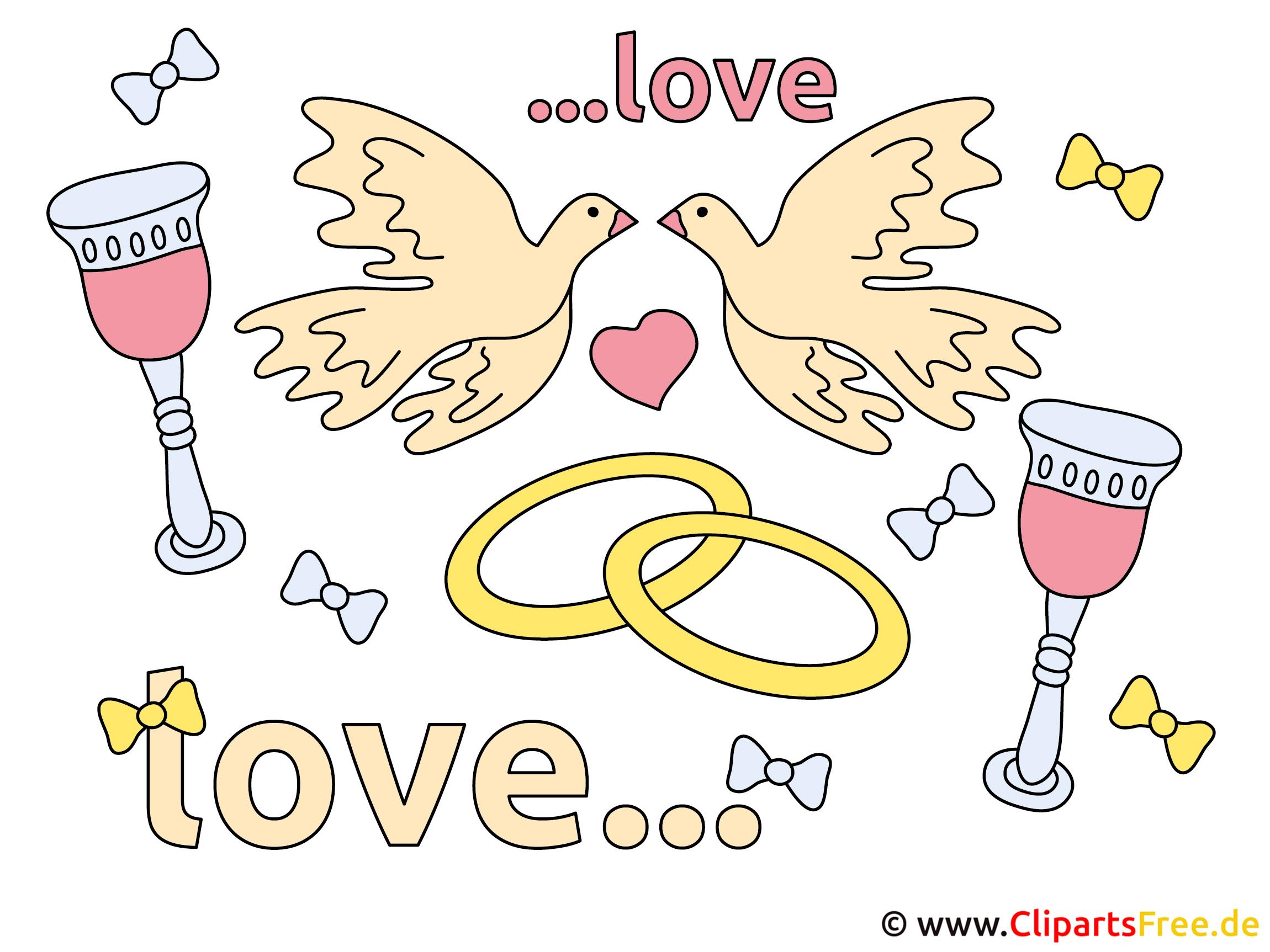 Glückwünsche zur Hochzeit Clipart