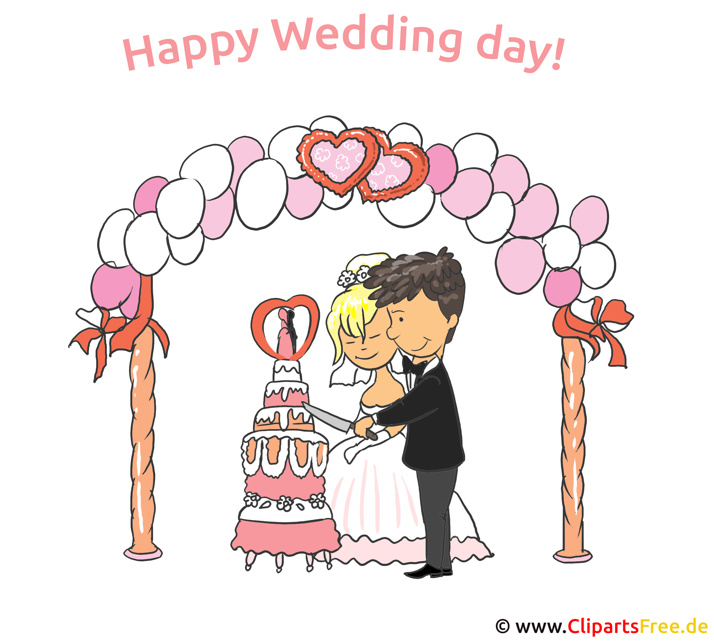 Happy Wedding Day Clip Art, eCard, Cartoon