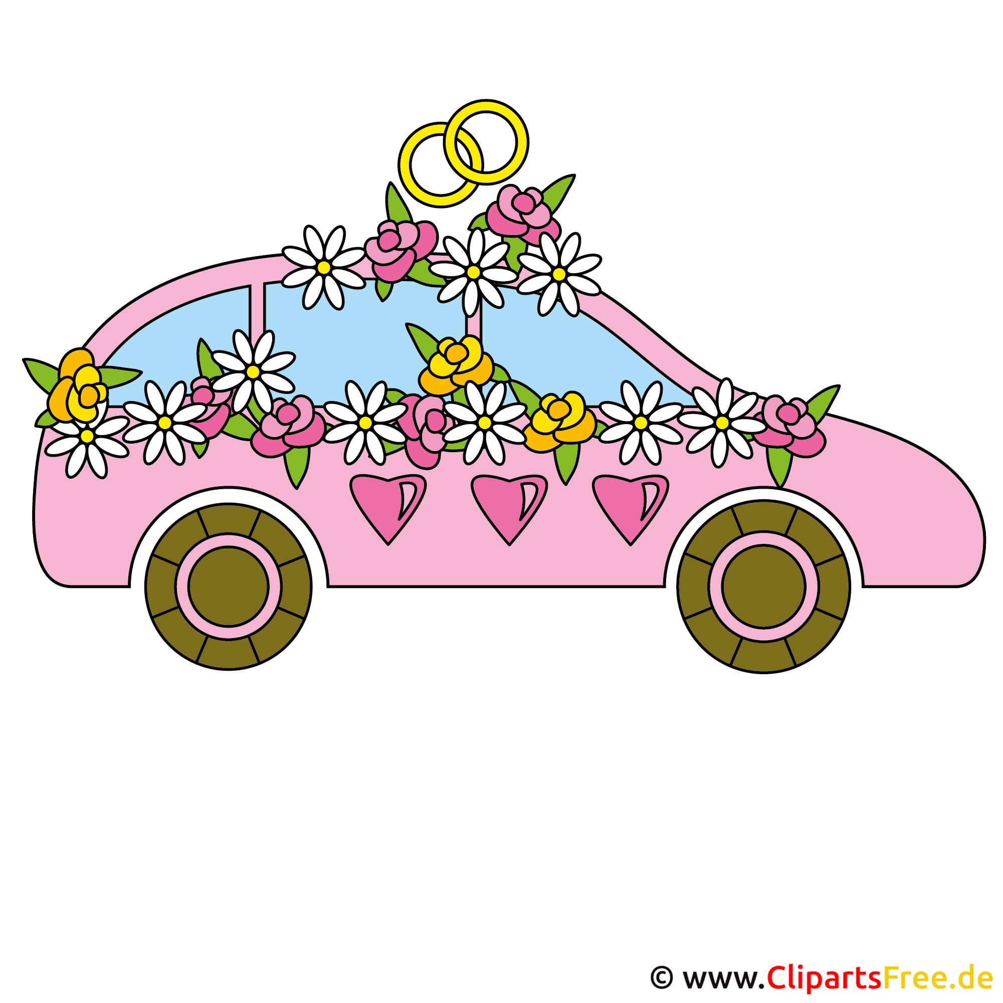Hochzeitsauto Bild