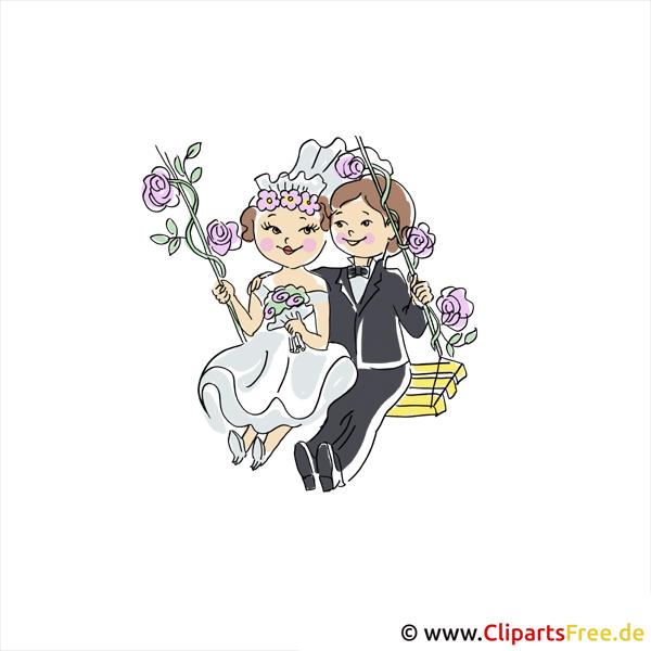 Schaukel Clipart gratis zu Hochzeit