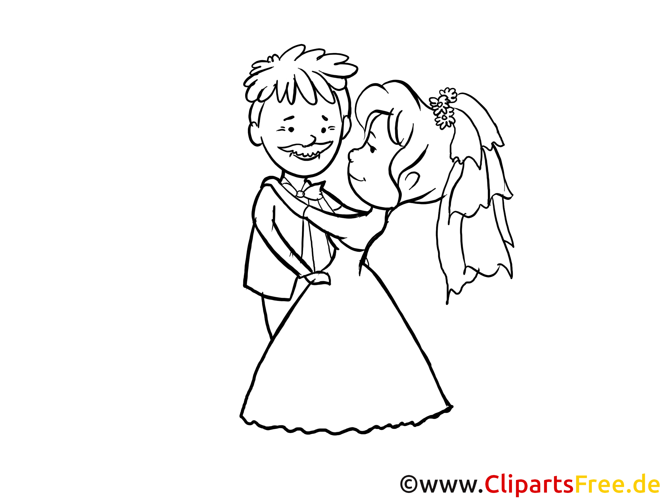 Wedding Clip Art black and white for free