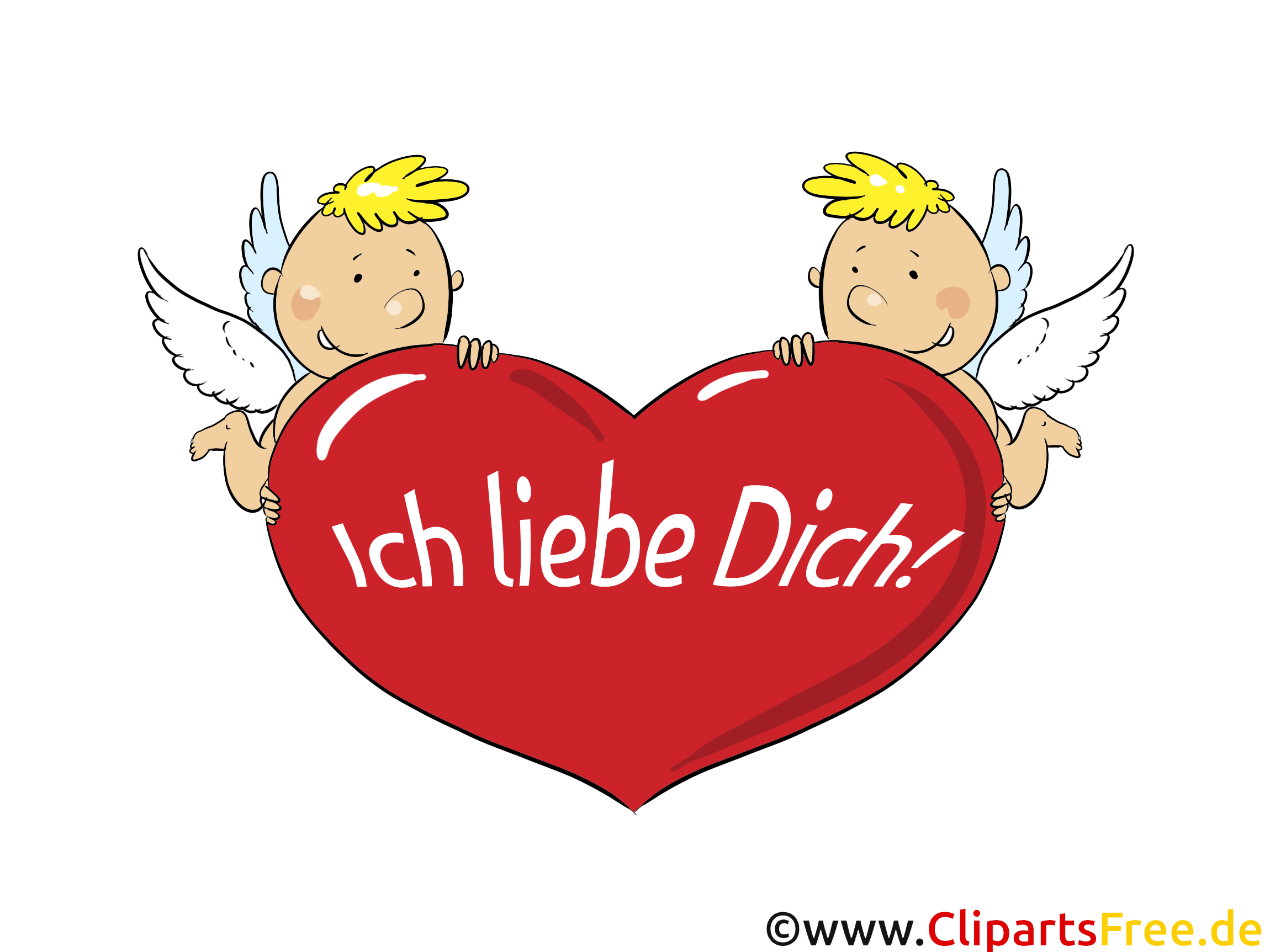 Ich liebe dich Grusskarte, Clipart, GB Bild, Grafik, Cartoon