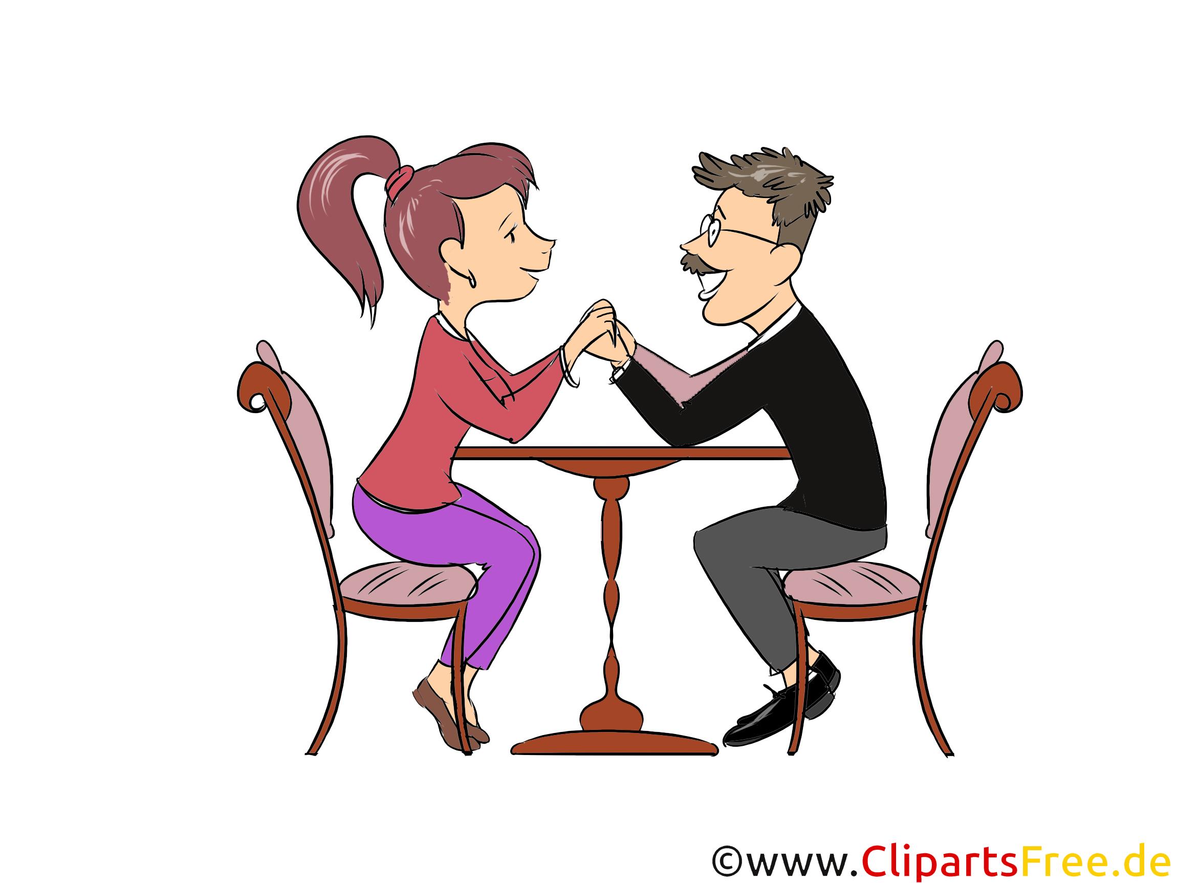 Liebeserklährung Clipart, Bild, Illustration in Farbe