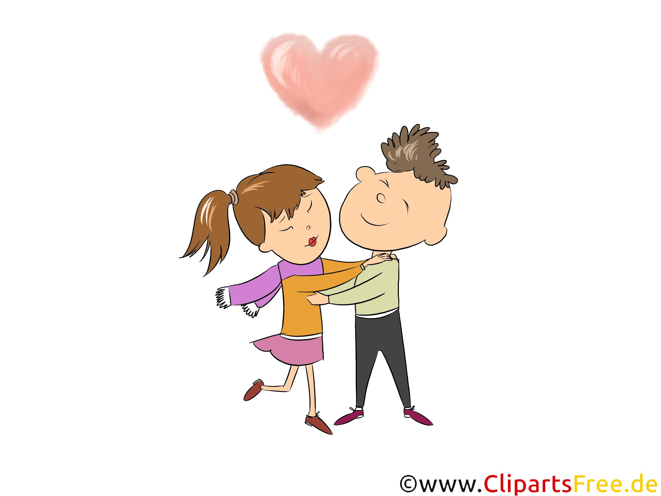 Partnersuche Clipart, Bild, Illustration