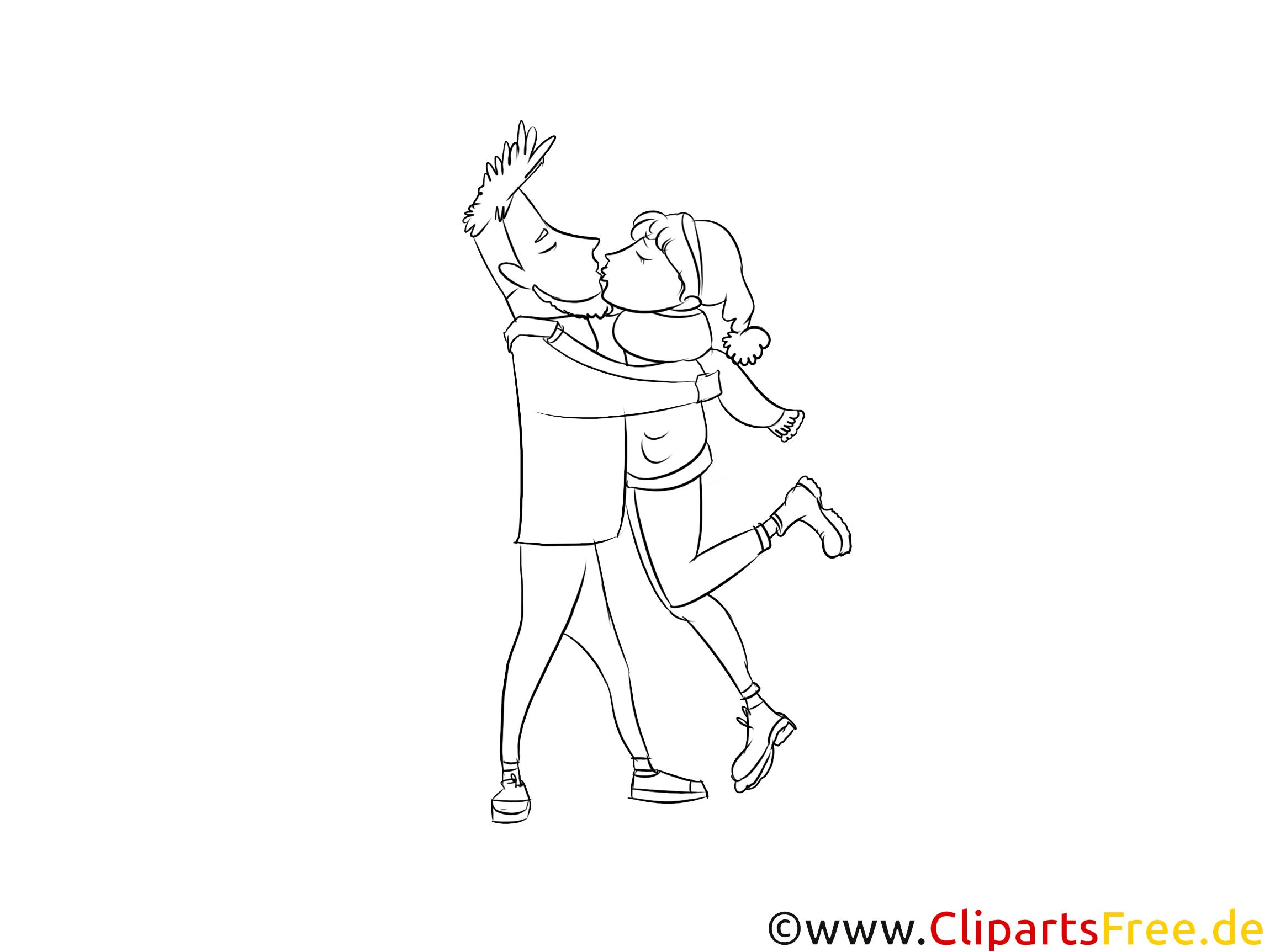 Treffen ein Paar Mann und Frau Clipart Bild