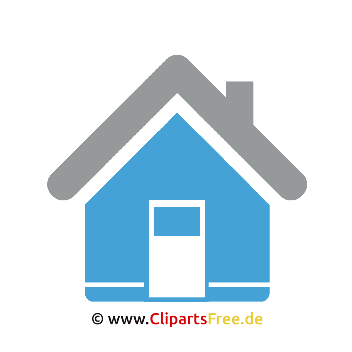 Haus clipart schwarz weiß  Haus Clipart-Bild kostenlos