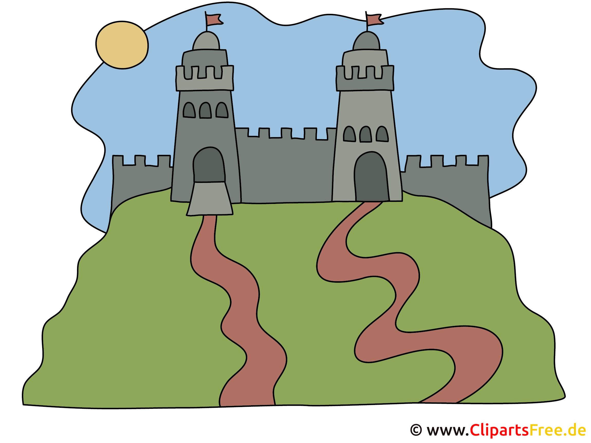 Burg auf dem Hügel Bild