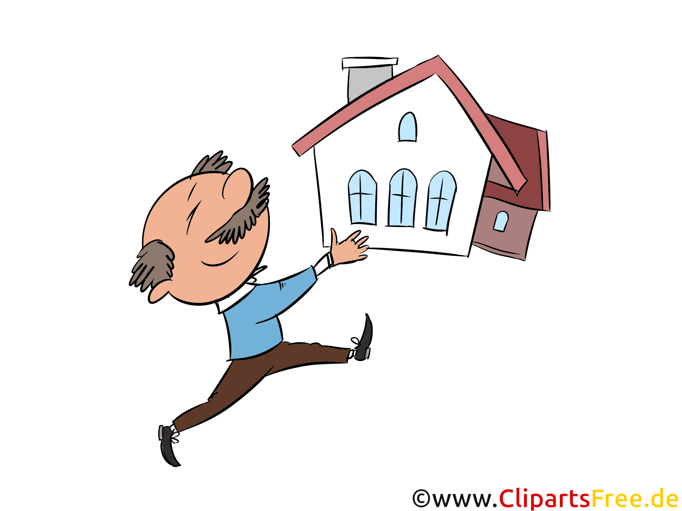 Immobilienkauf Clipart, Illustration, Bild, Grafik gratis