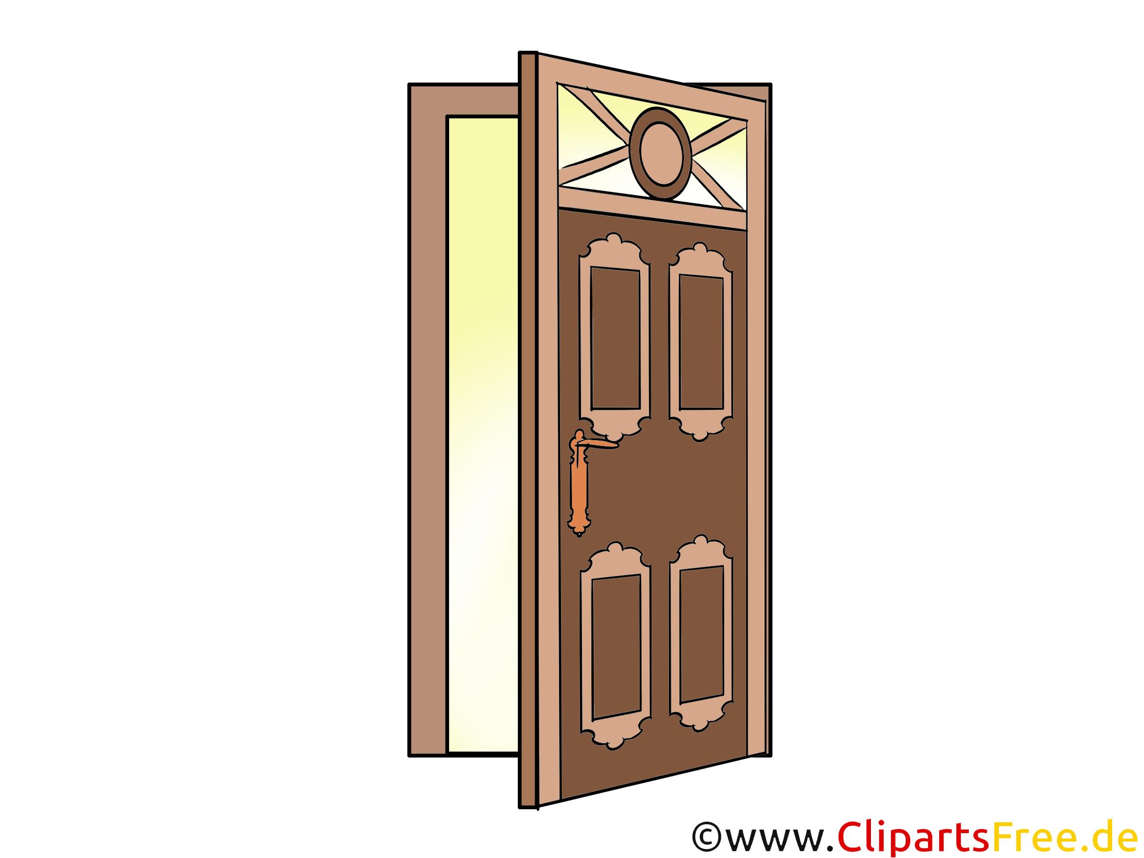 Schöne Tür Clipart, Bild, Illustration