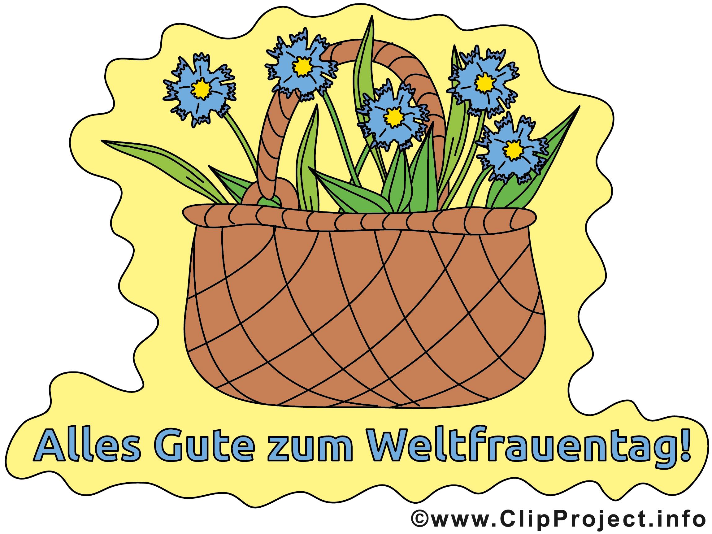 Blumen zum Frauentag Karte