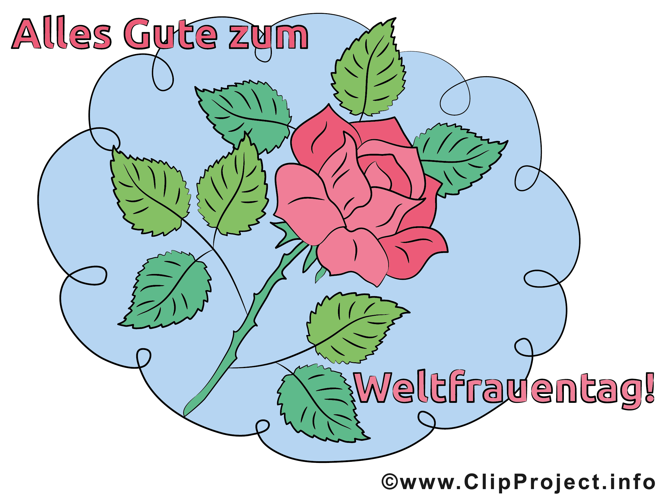 Internationaler Frauentag Karte, Bild, Clipart, eCard