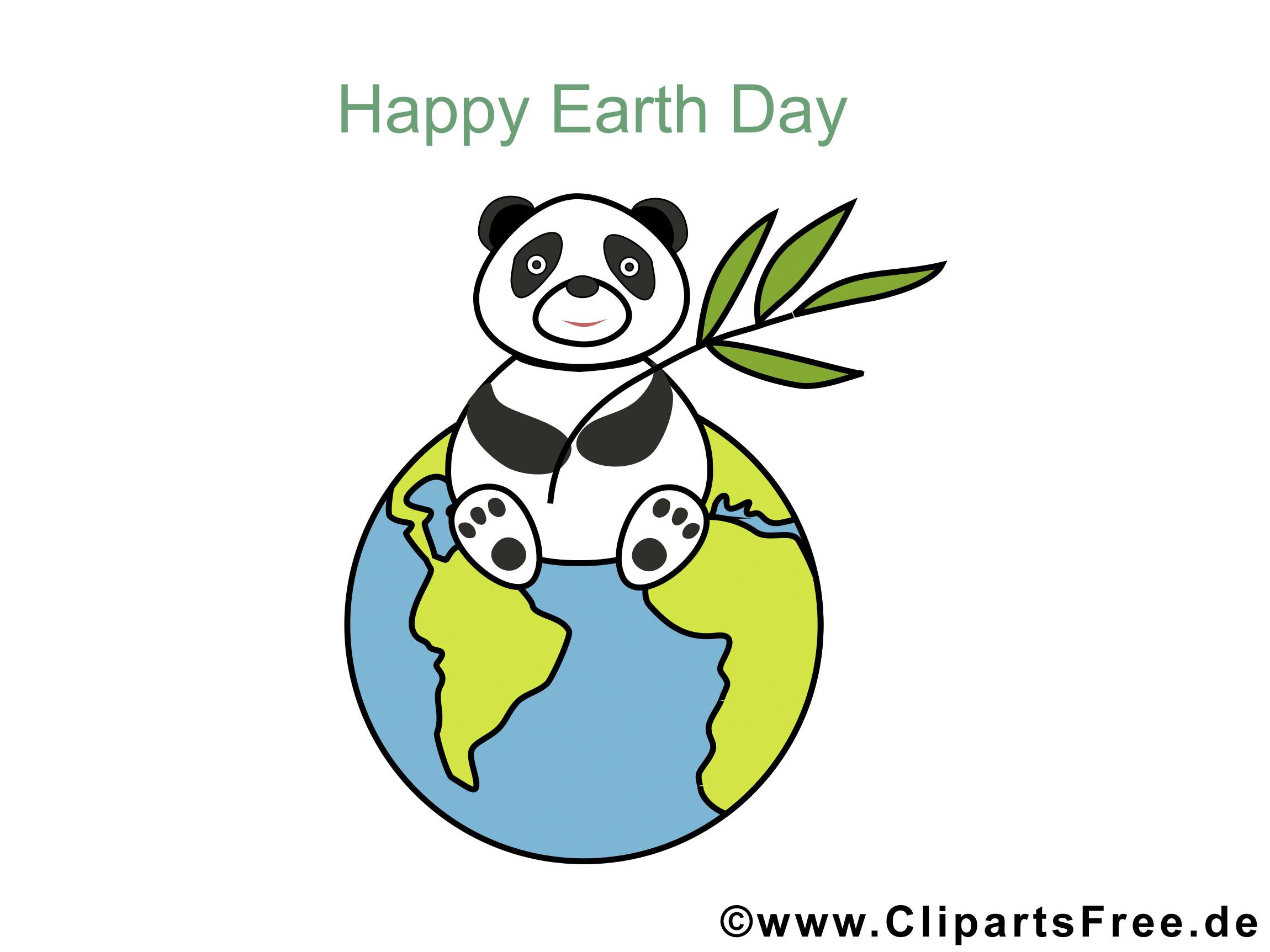 Glueckwunschkarte zum Tag der Erde