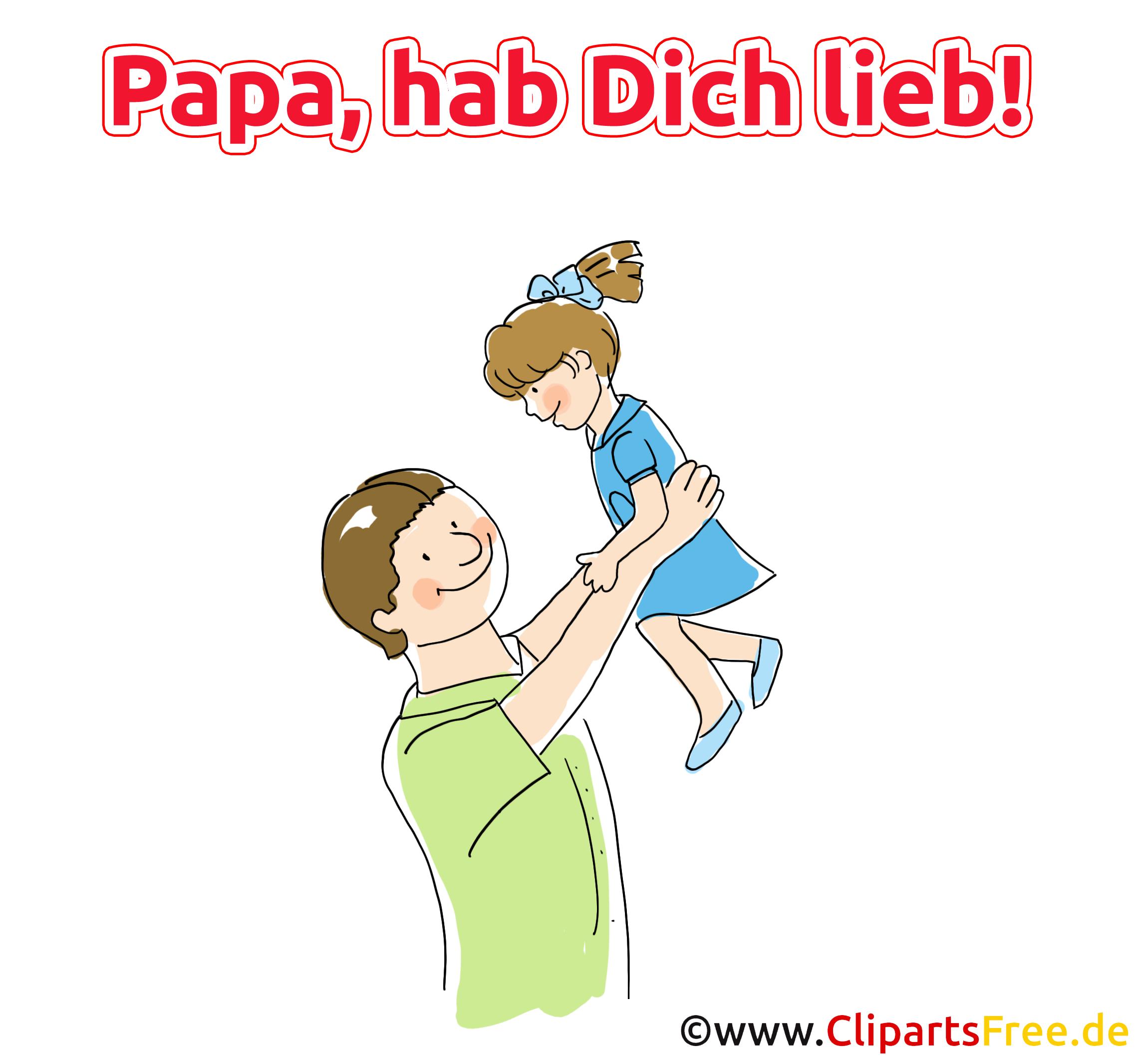 Bild mit Spruch zum Vatertag
