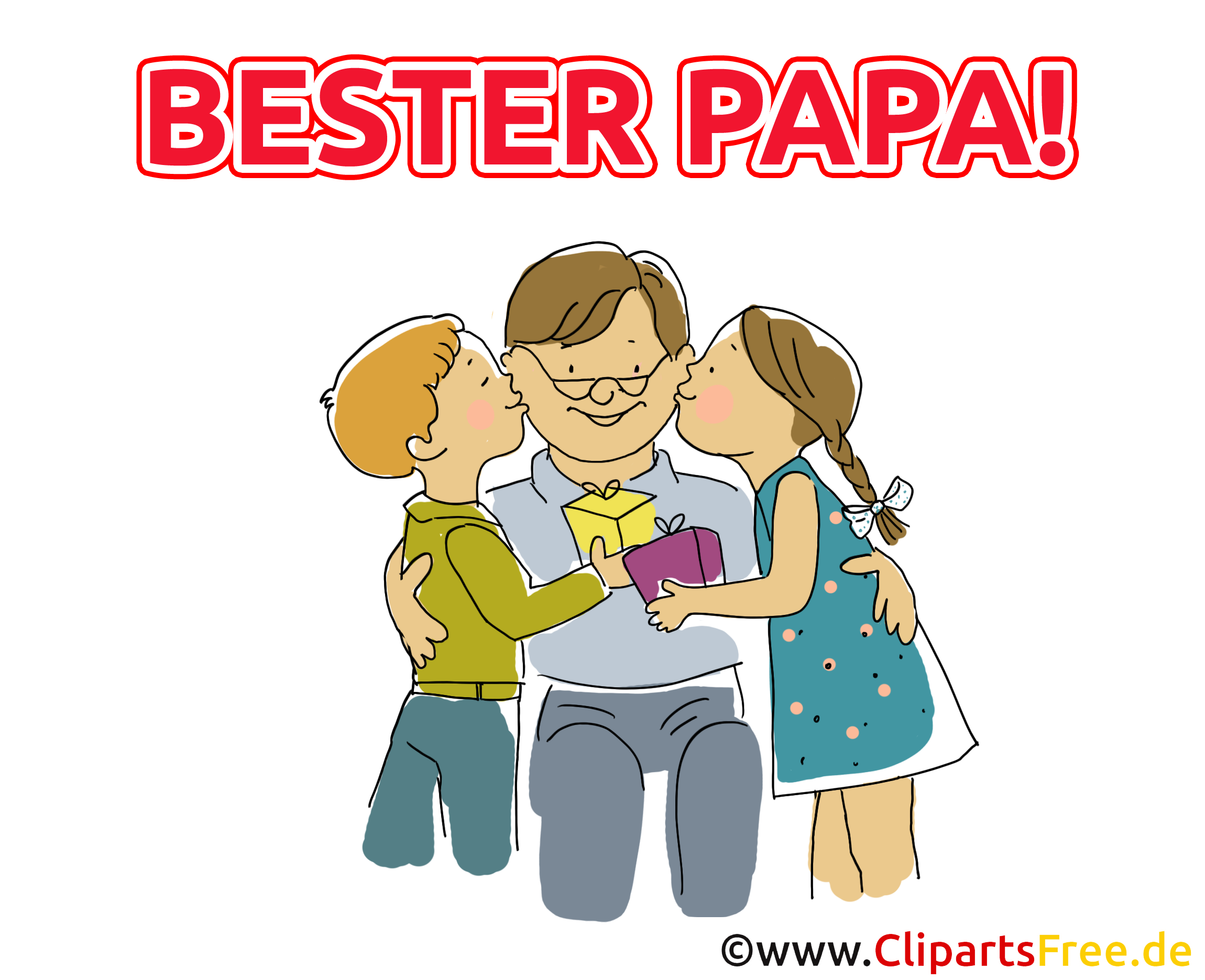 geschenk für papa  cliparts zum vatertag