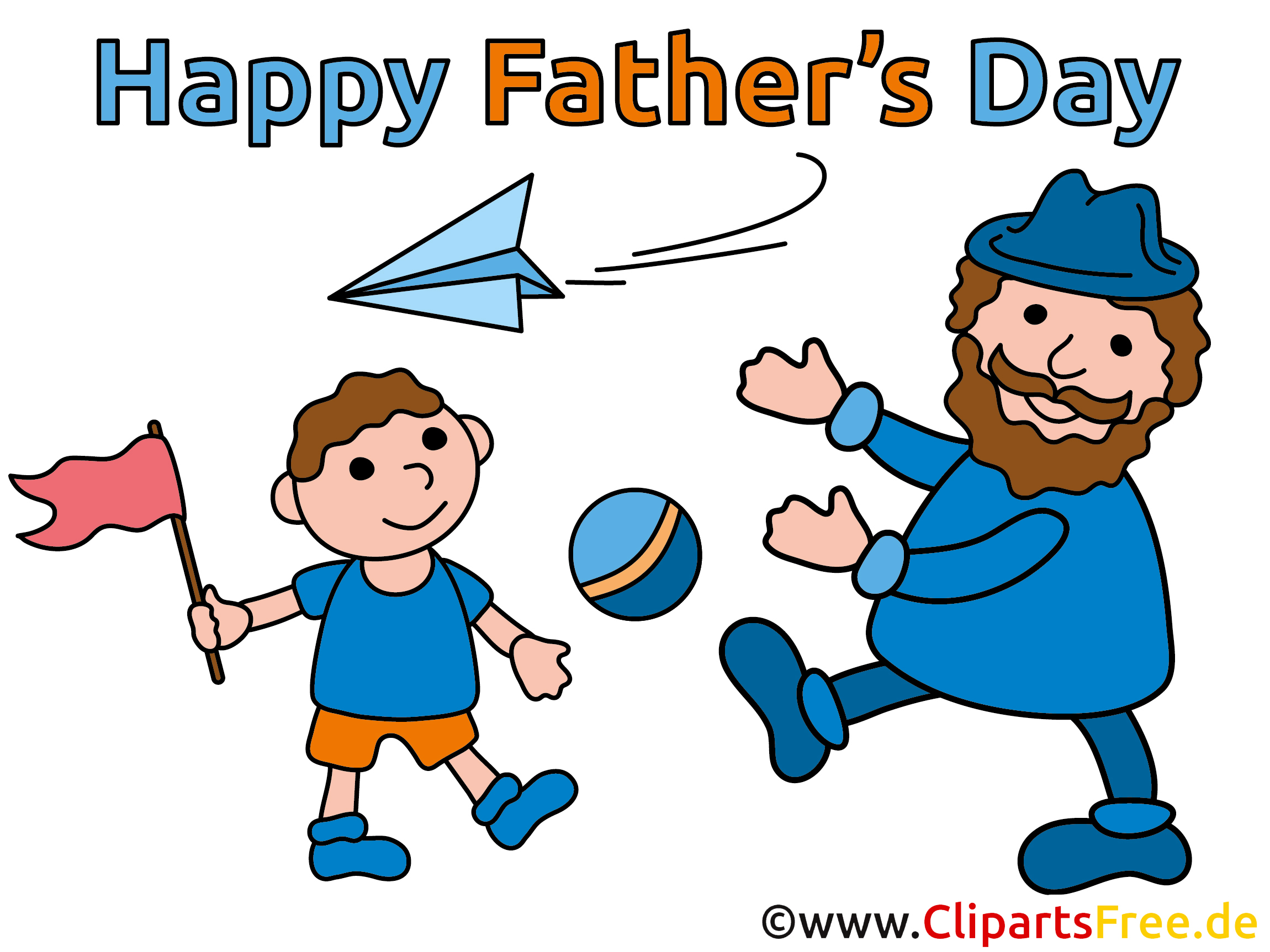 Wünsche zum Vatertag Cliparts