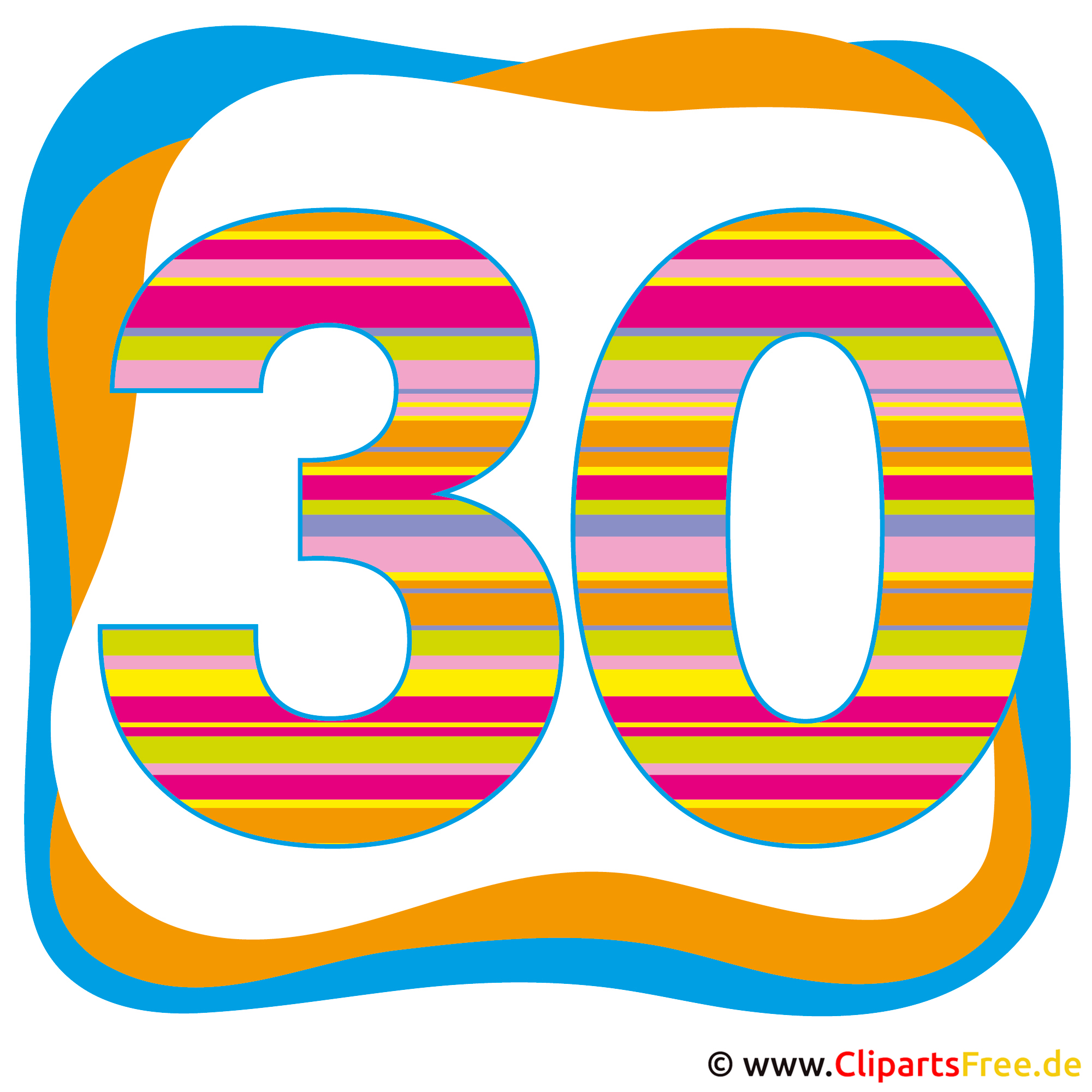 30 Jahre Party Clipart