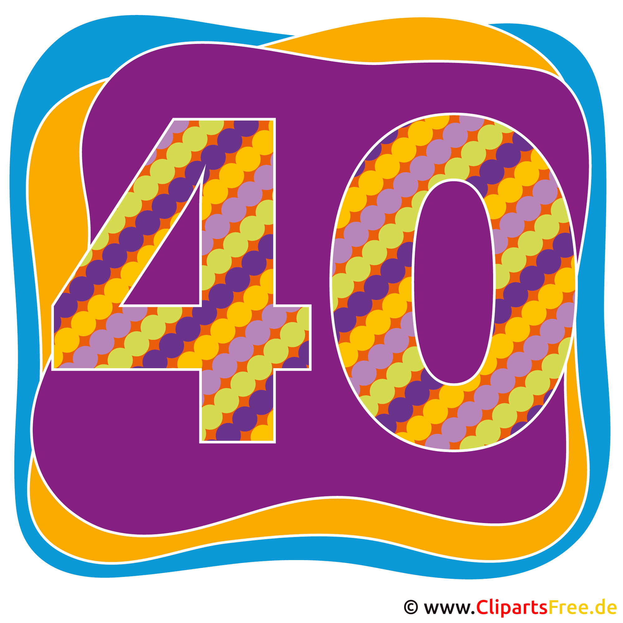 40 Jahre Party Bild, Clipart