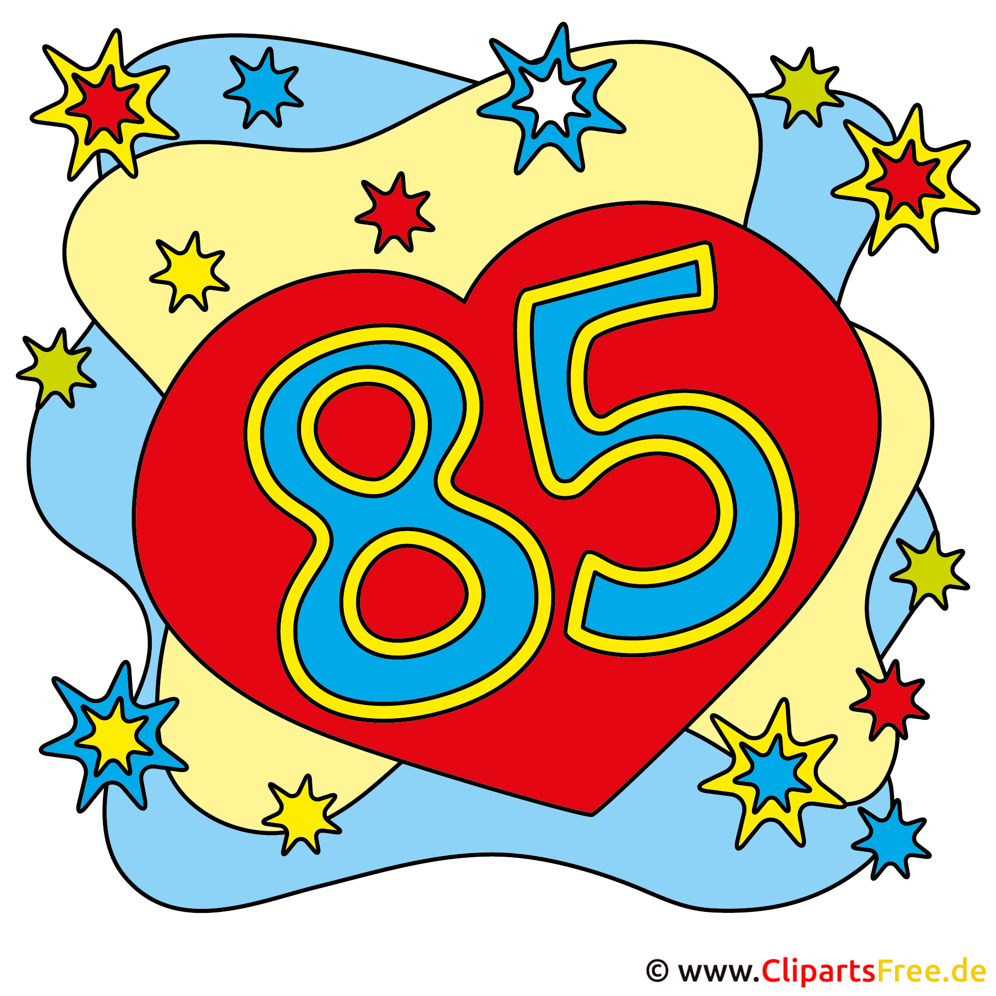 85 geburtstagskarte gratis for Clipart gratis download