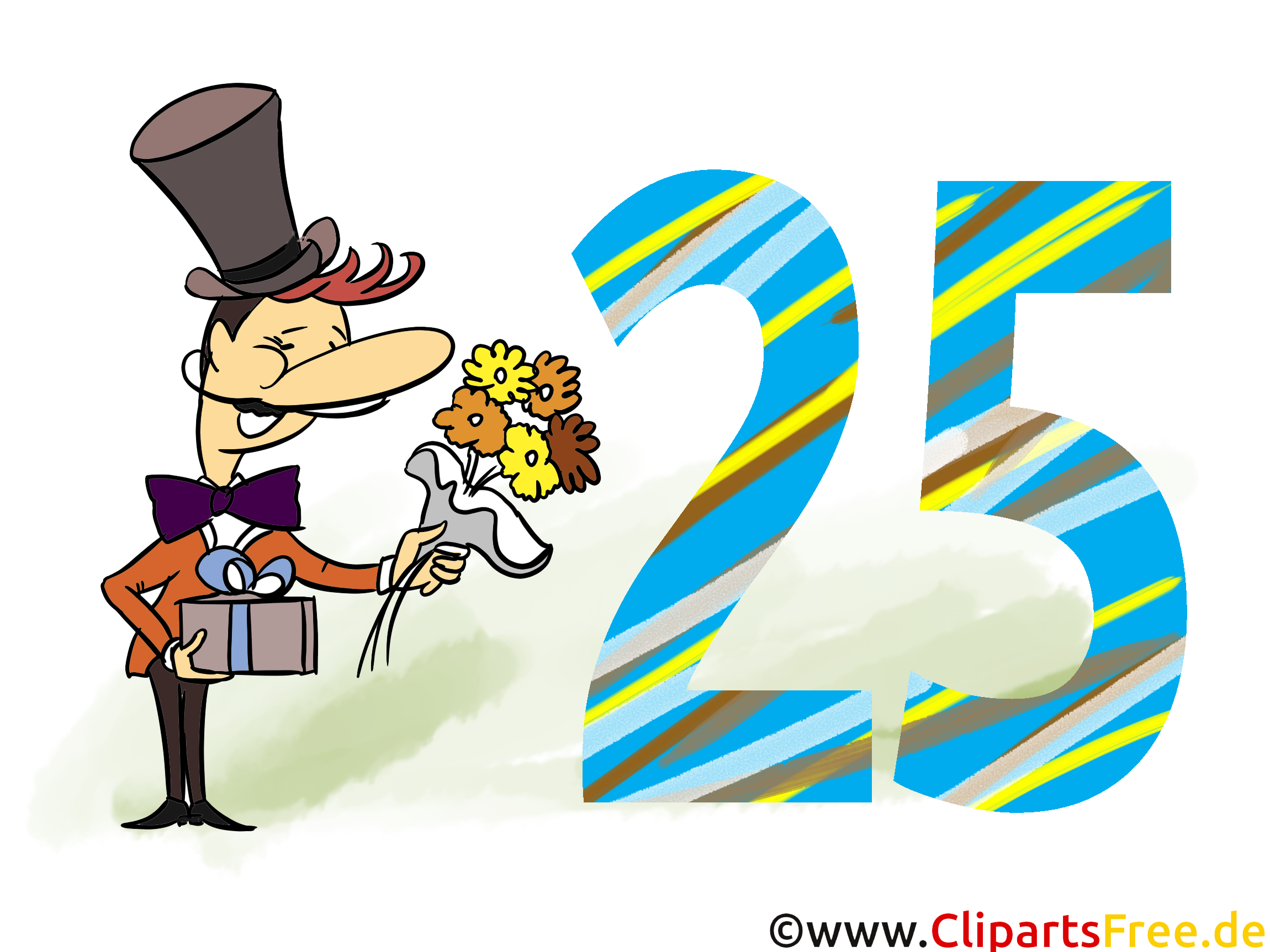 Geburtstagsgr sse bilder karten cliparts zum 25 geburtstag - Geburtstagsbilder zum 25 ...