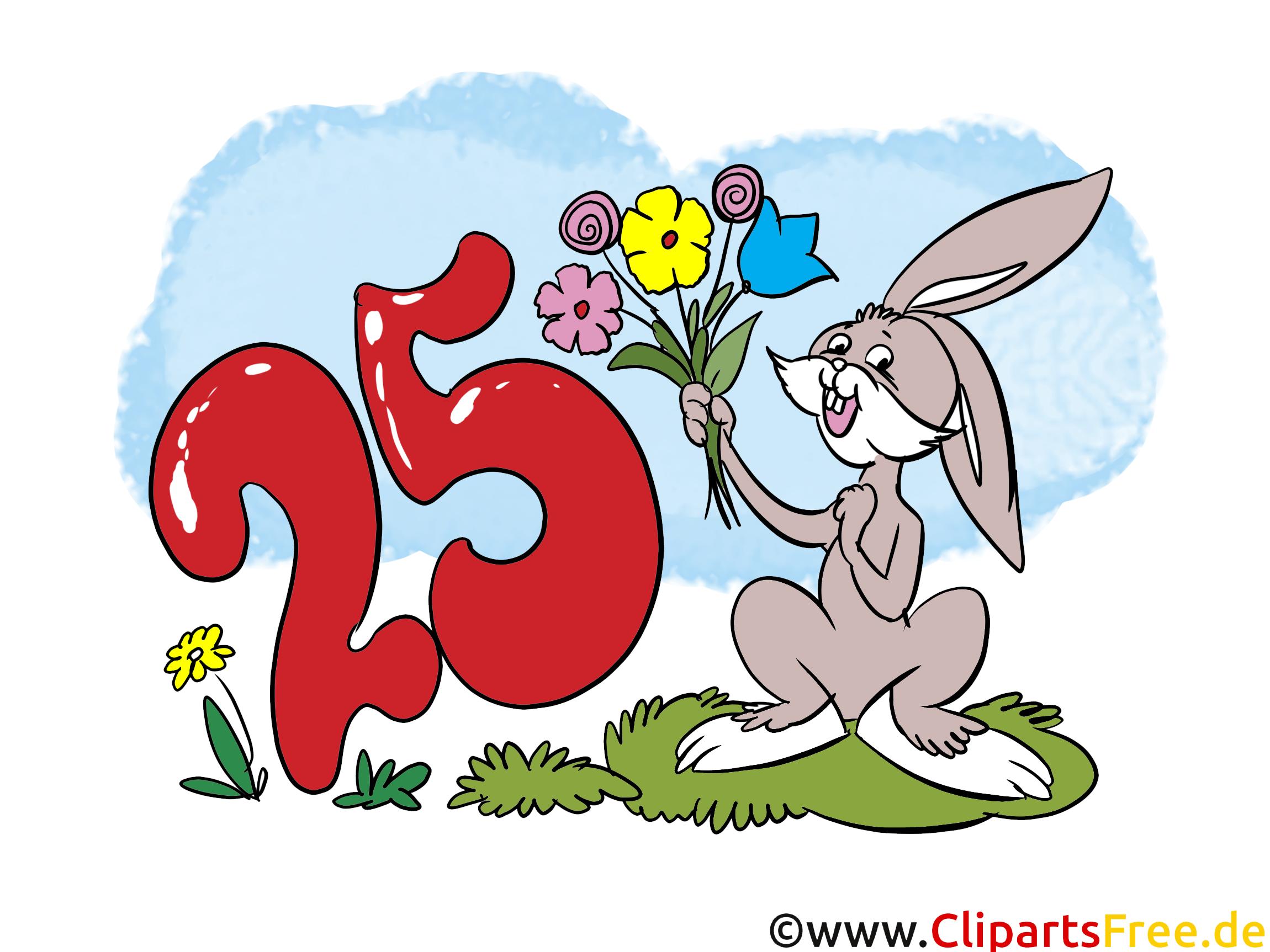 Lustige Geburtstagswünsche zum 25 Geburtstag - eCard, Bild ...