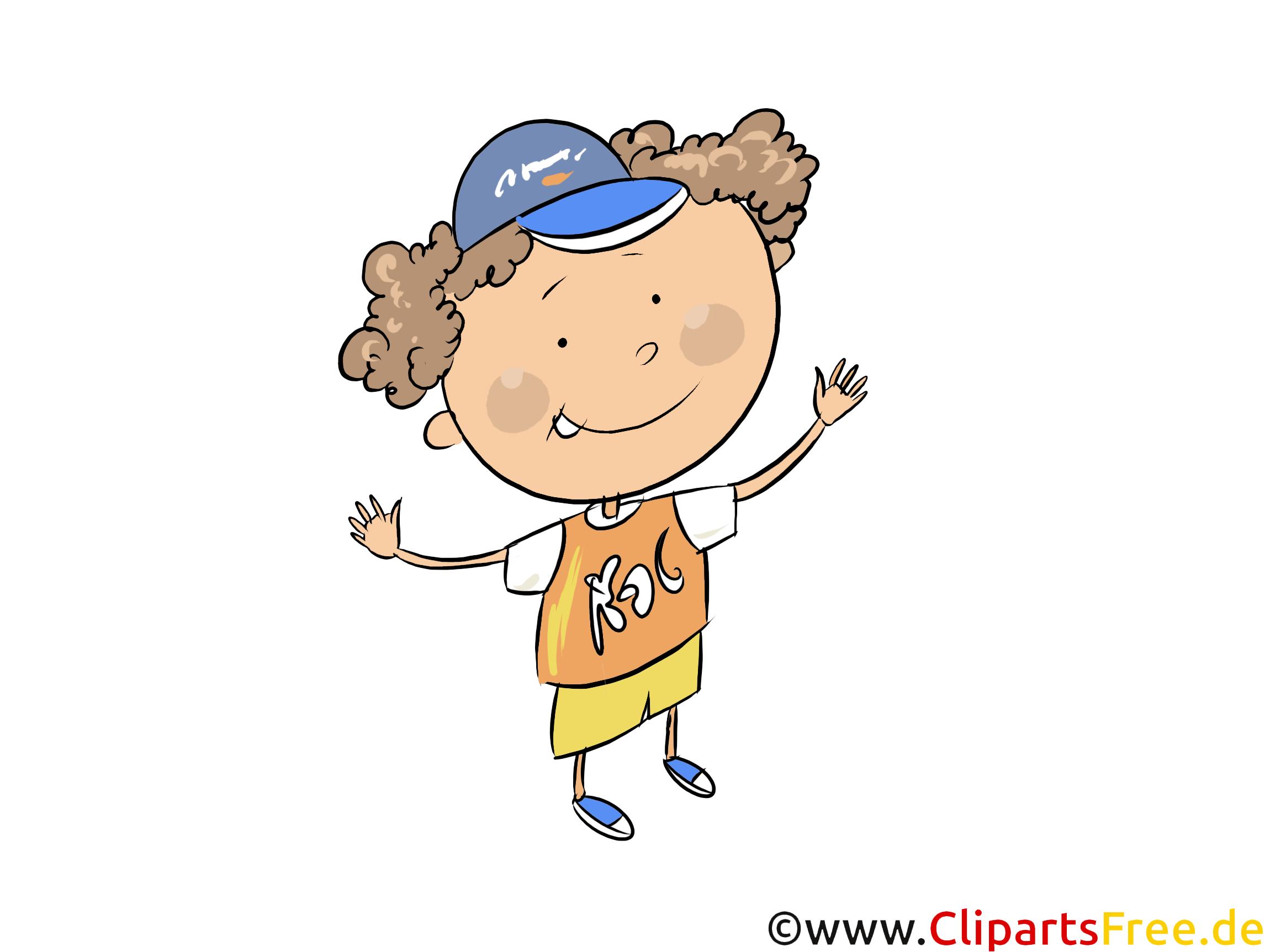Junge in Grundschule - Kinder Cliparts