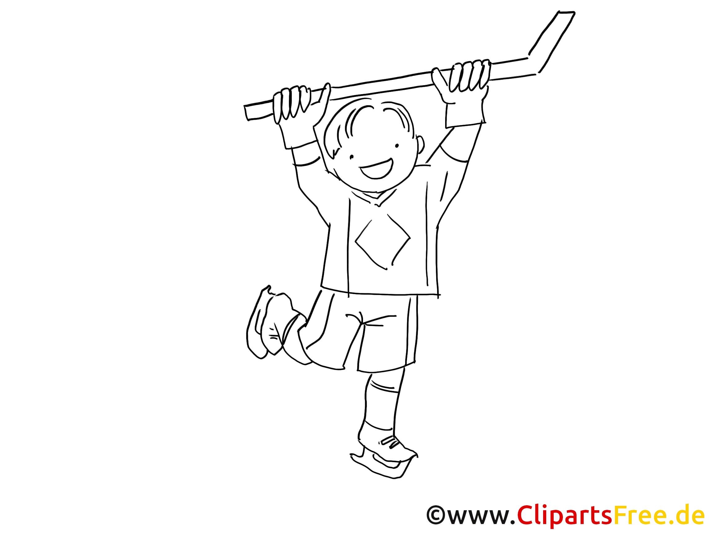 kind spielt eishockey bild zum malen