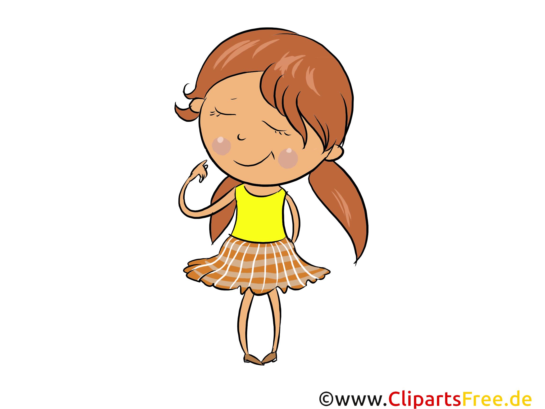 Kleines Mädchen Bild, Illustration gratis