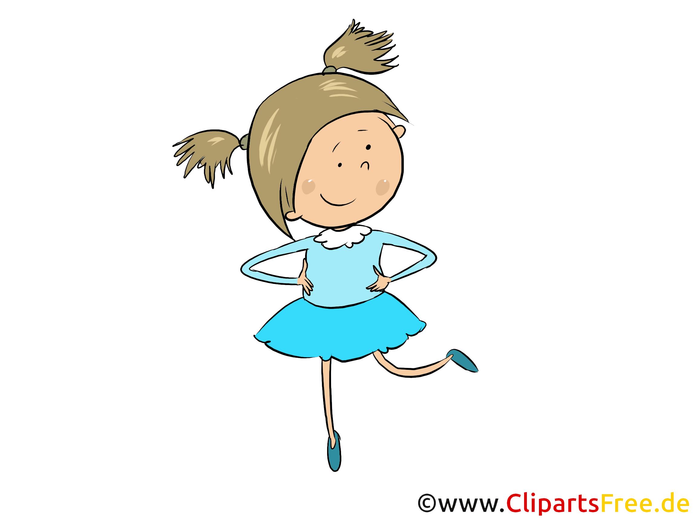 Mädchen im Kindergarten - Kinder Cliparts kostenlos