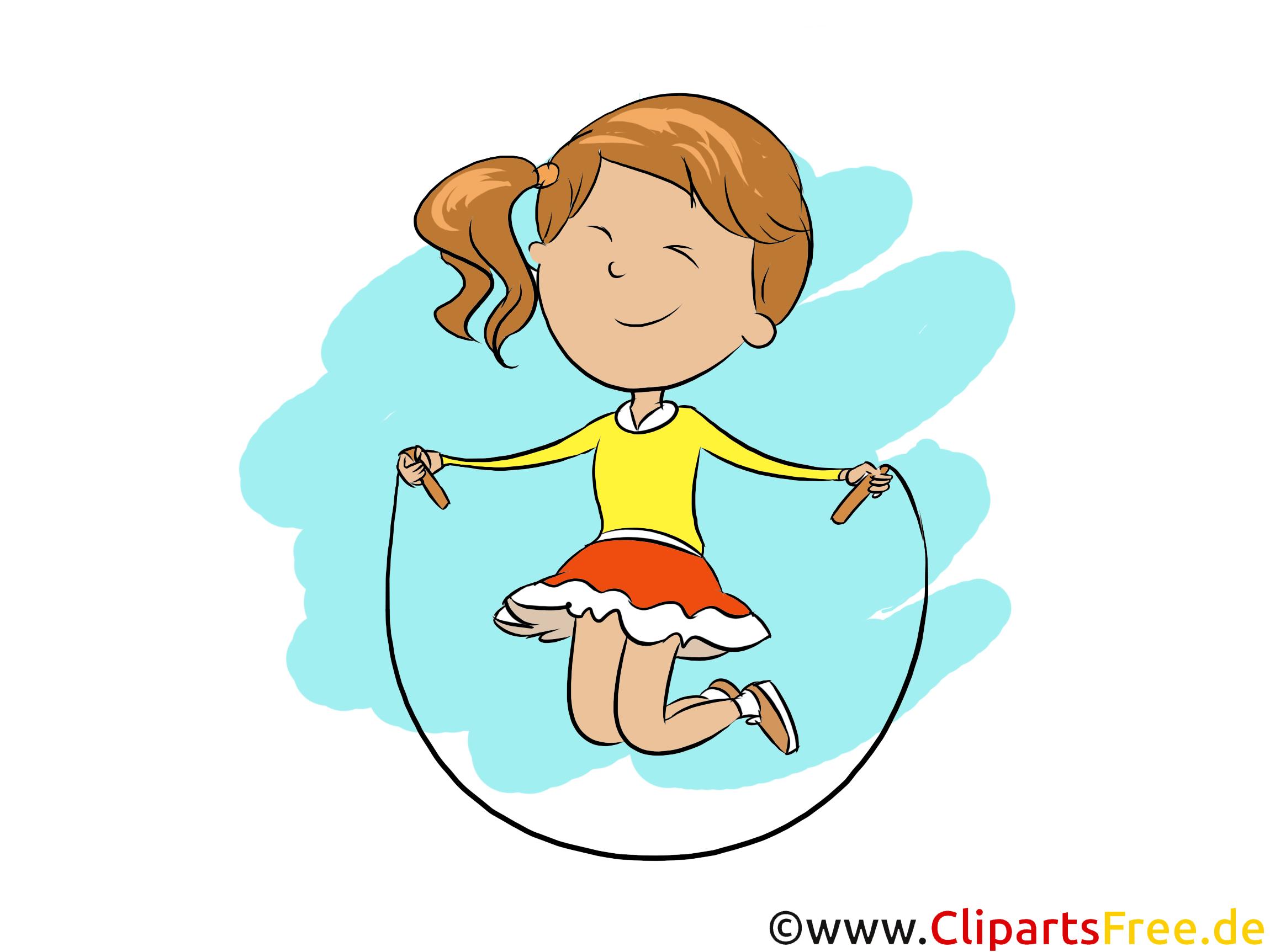 Springseil im Sportunterrsicht - Tagesablauf Cliparts für Grundschule