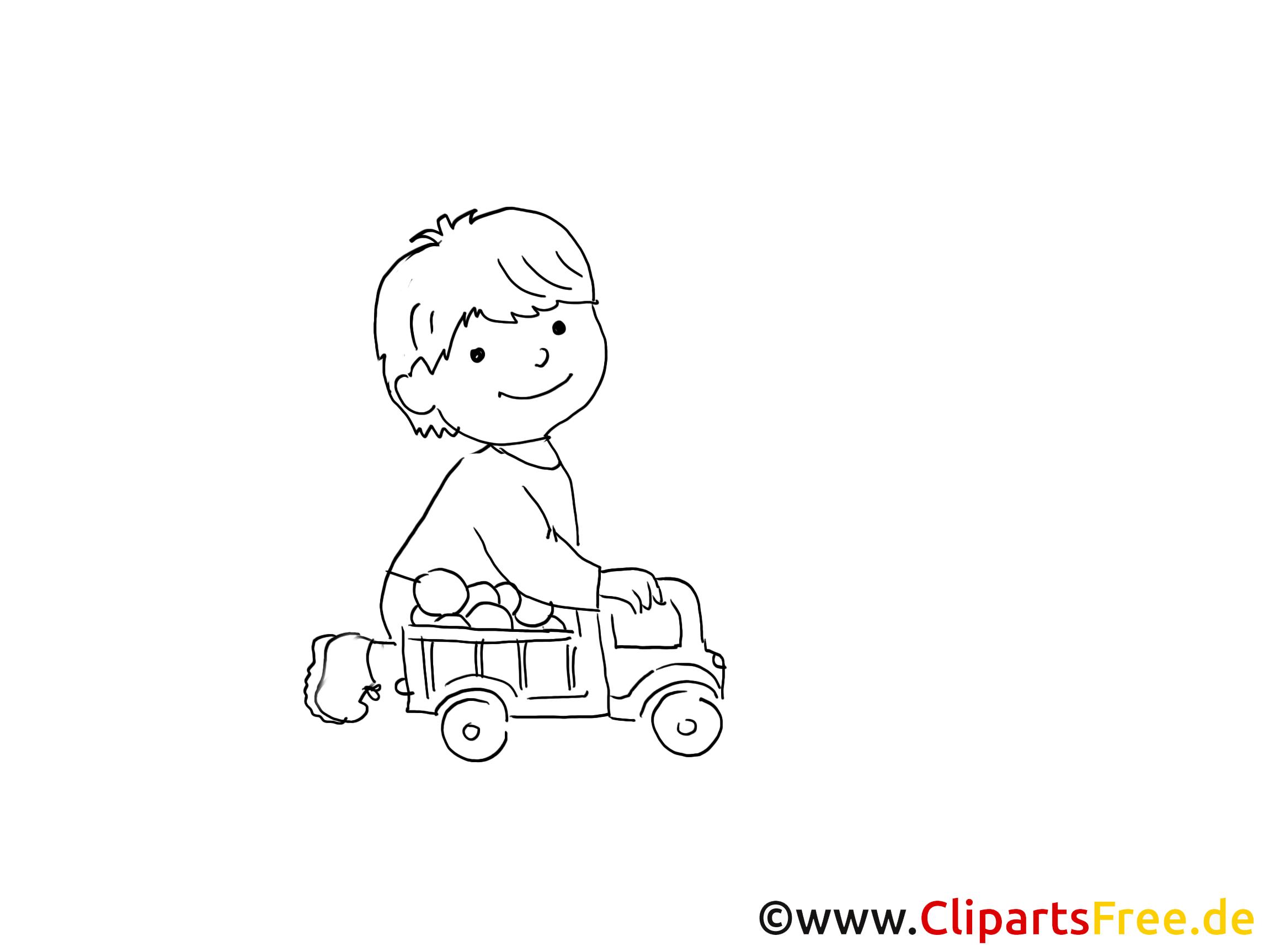 kind spielt mit spielzeugauto zeichnung bild schwarz. Black Bedroom Furniture Sets. Home Design Ideas