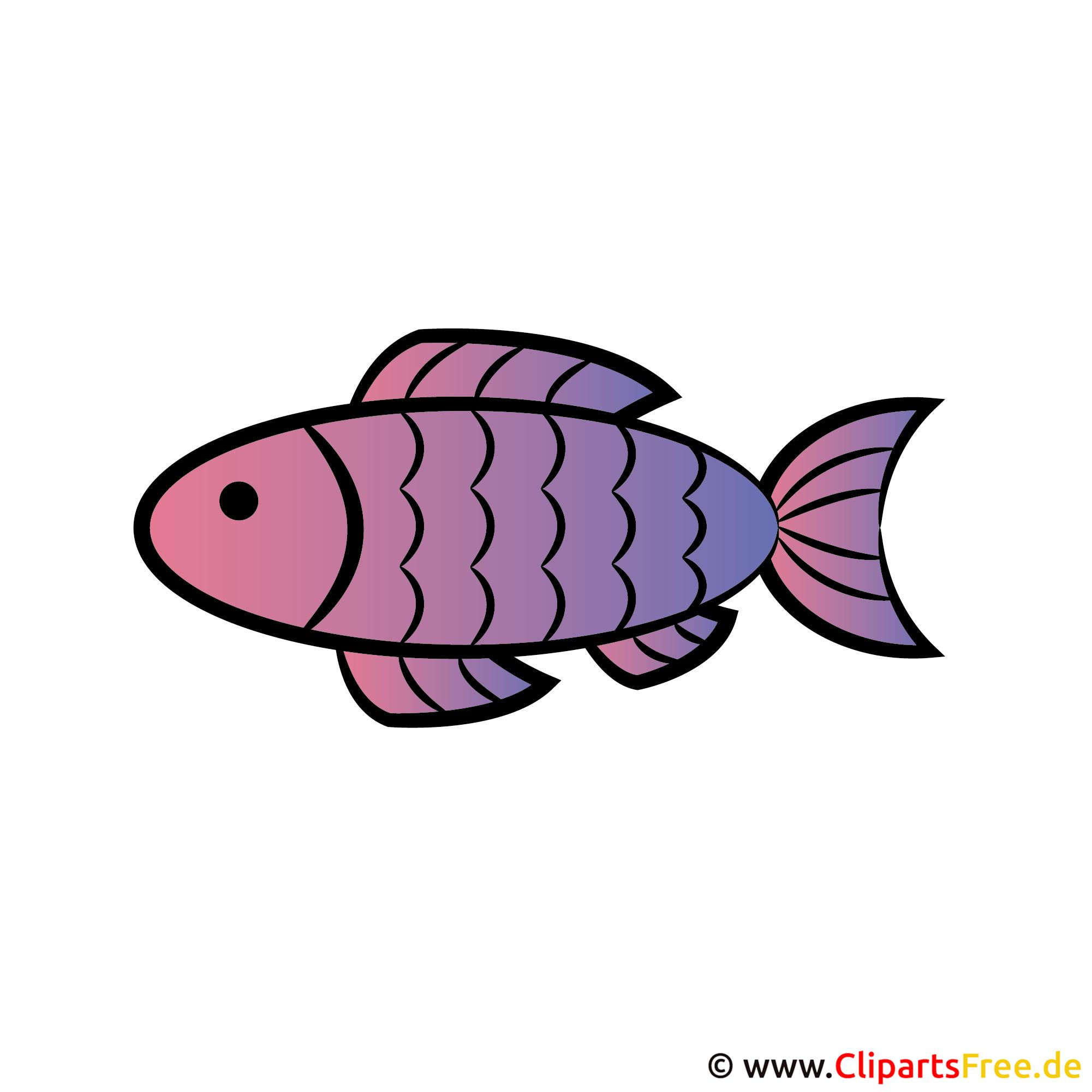 Cartoon Fisch - Einladungen für Kommunion mit gratis Cliparts gestalten