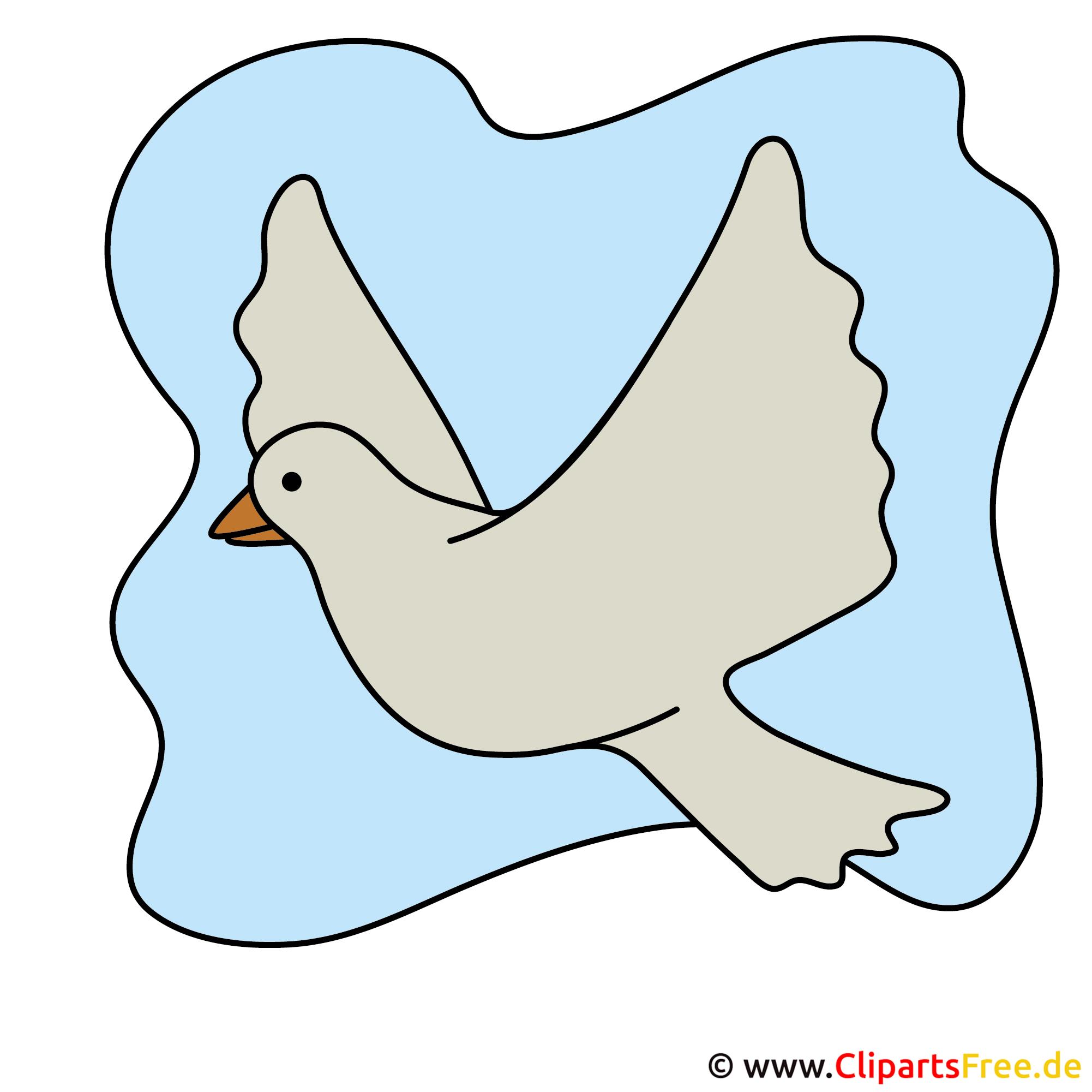 Einladung zur Kommunion mit  Cliparts selbst gestalten - Taube Bild