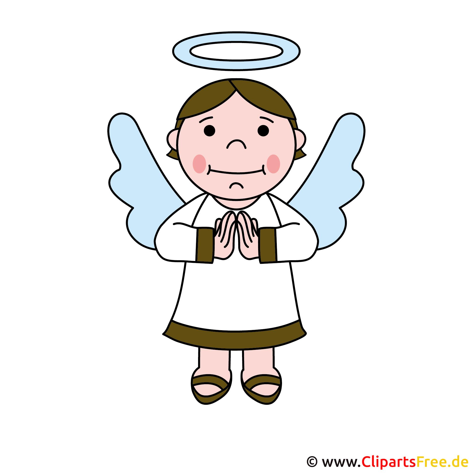 Engel Cartoon-Bild - Einladung zur Kommunion selbst gestalten