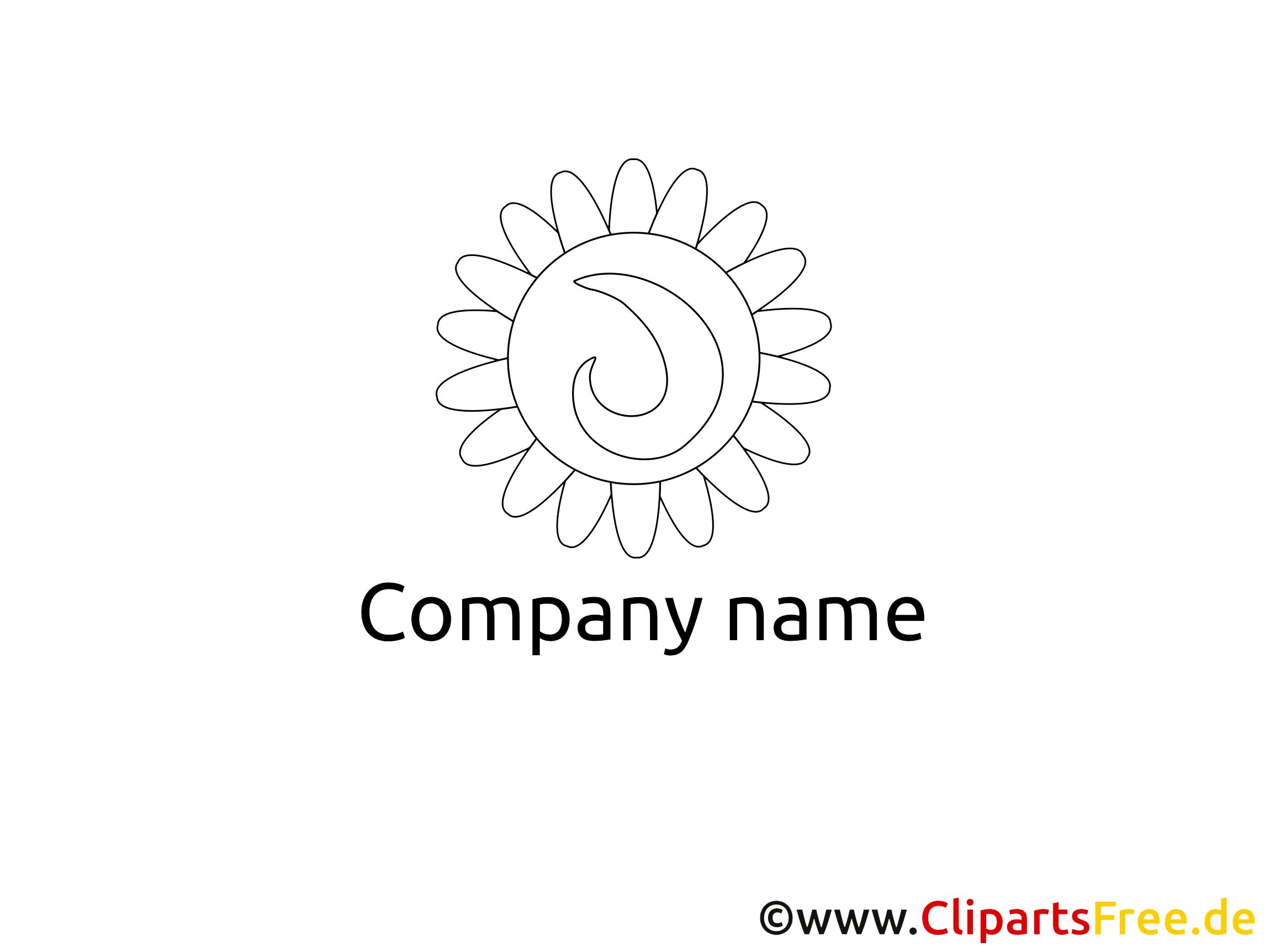 Logo template black and white
