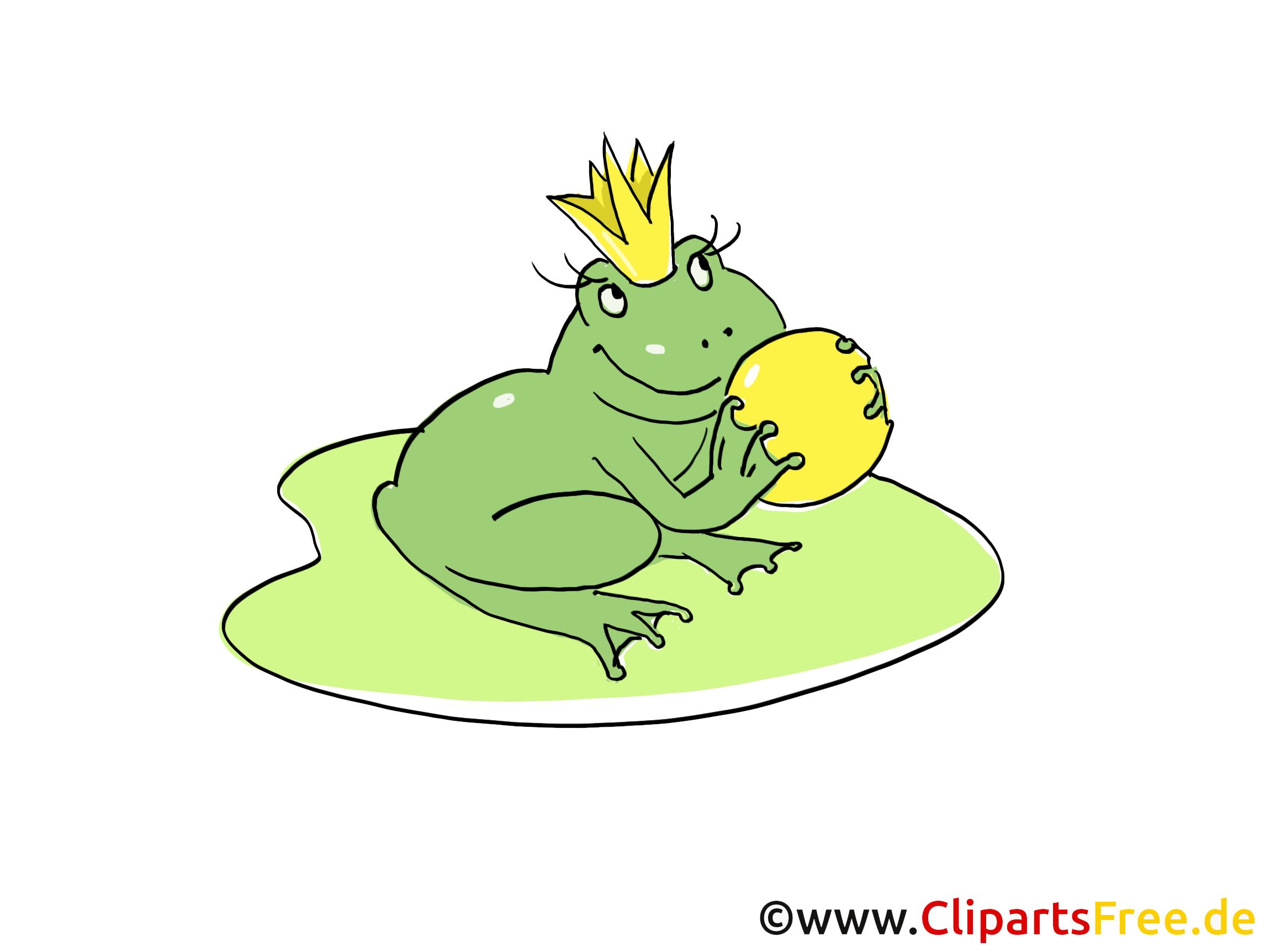 Froschkönig Märchen-Illustration, Bild, Clipart