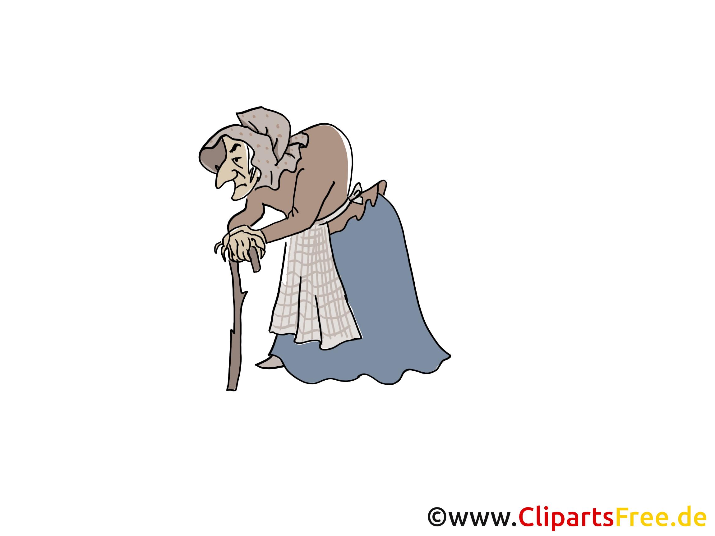 hexe aus schneewittchen märchenbild clipart illustration