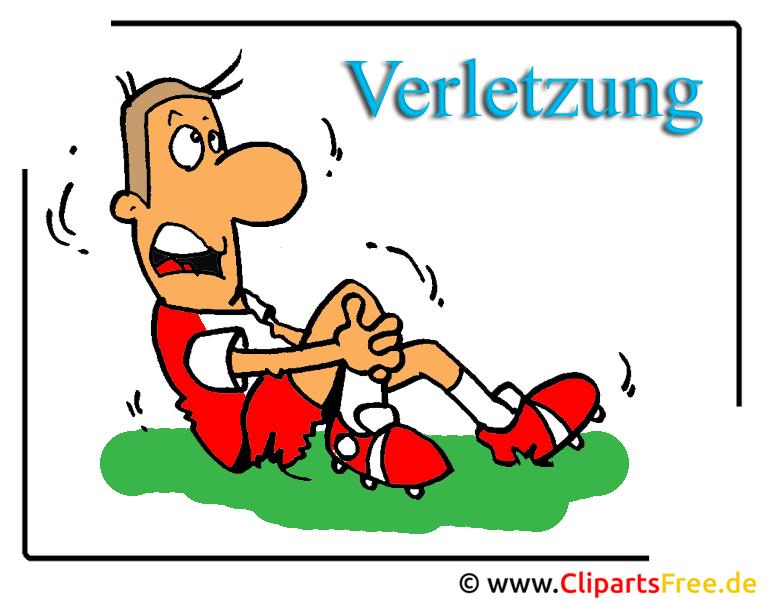 Verletzung im Sport - Medizin Clipart free