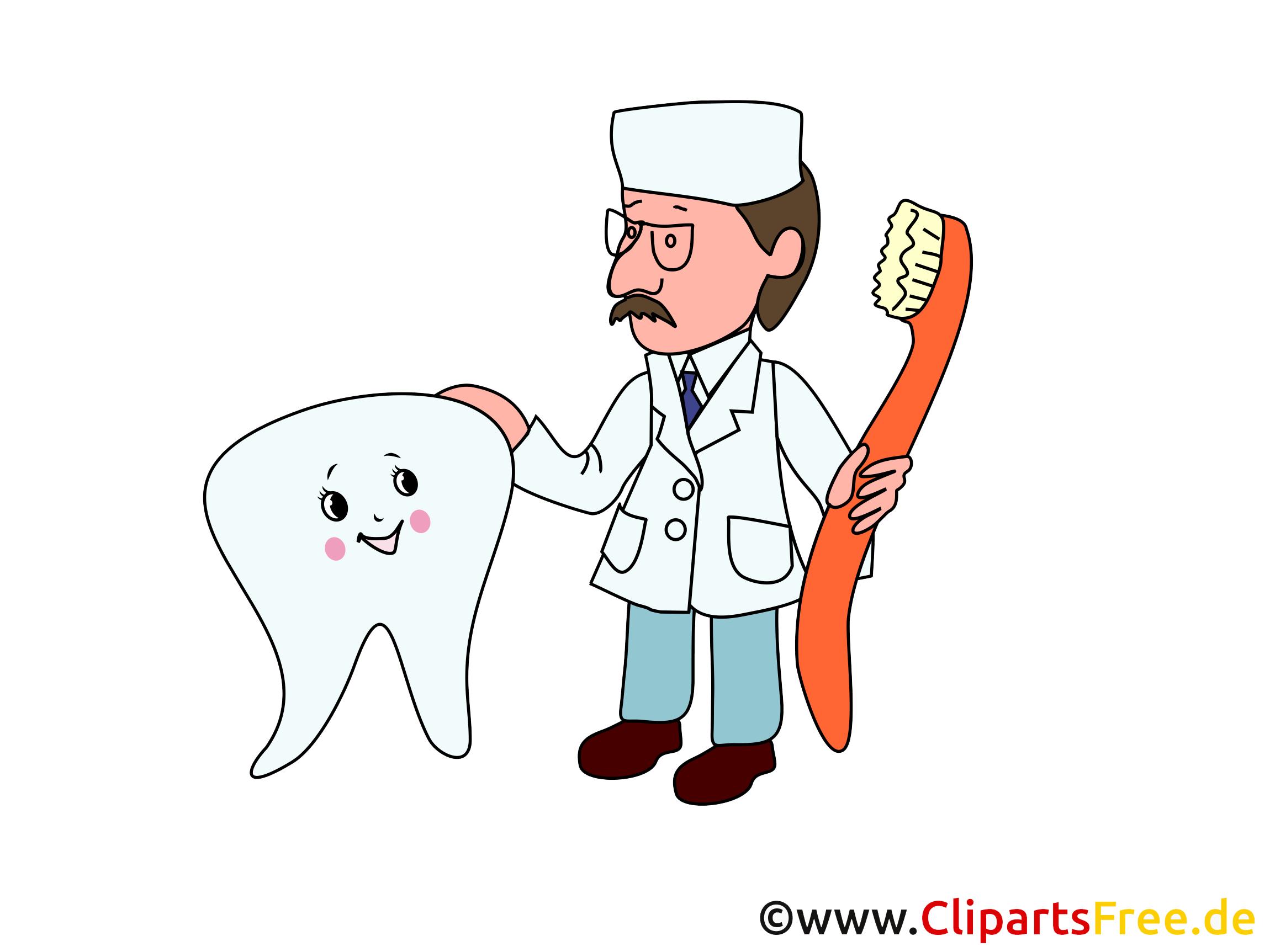 Zahn und Zahnarzt Cliparts, Bilder, Grafiken, Illustrationen