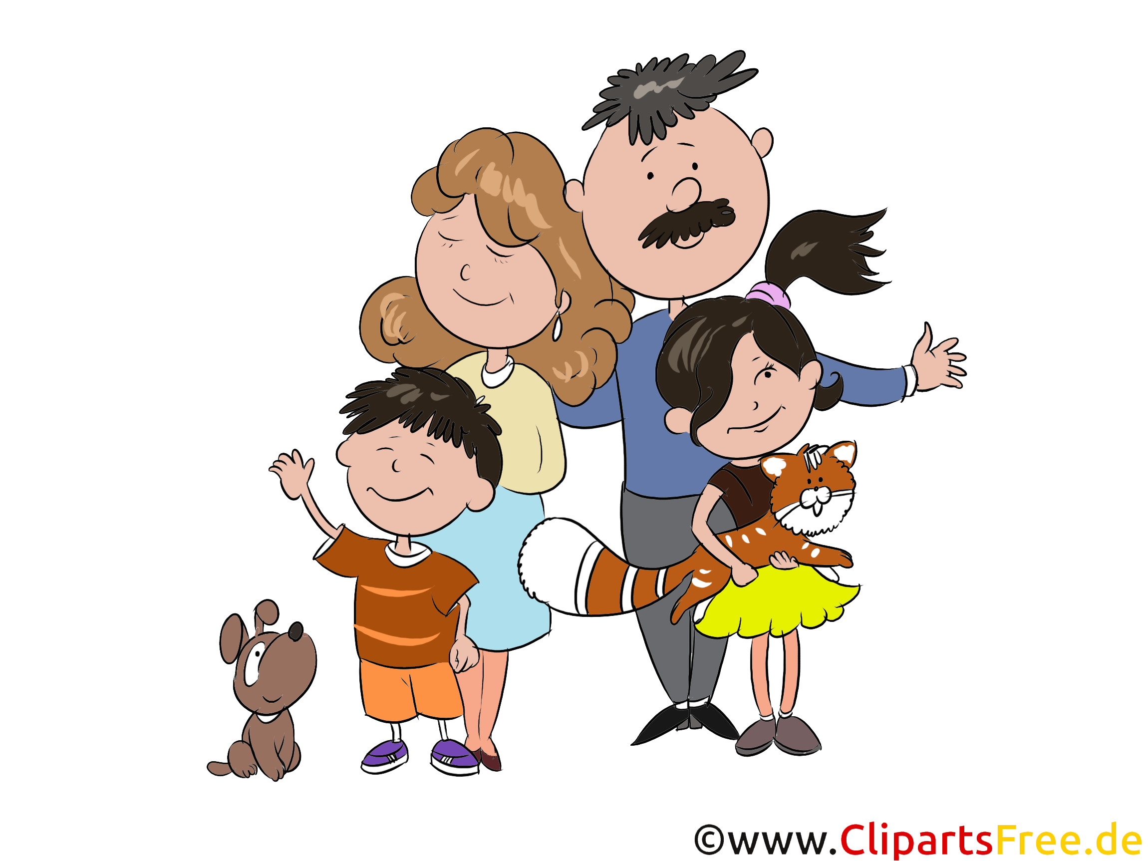 Familie Cartoon