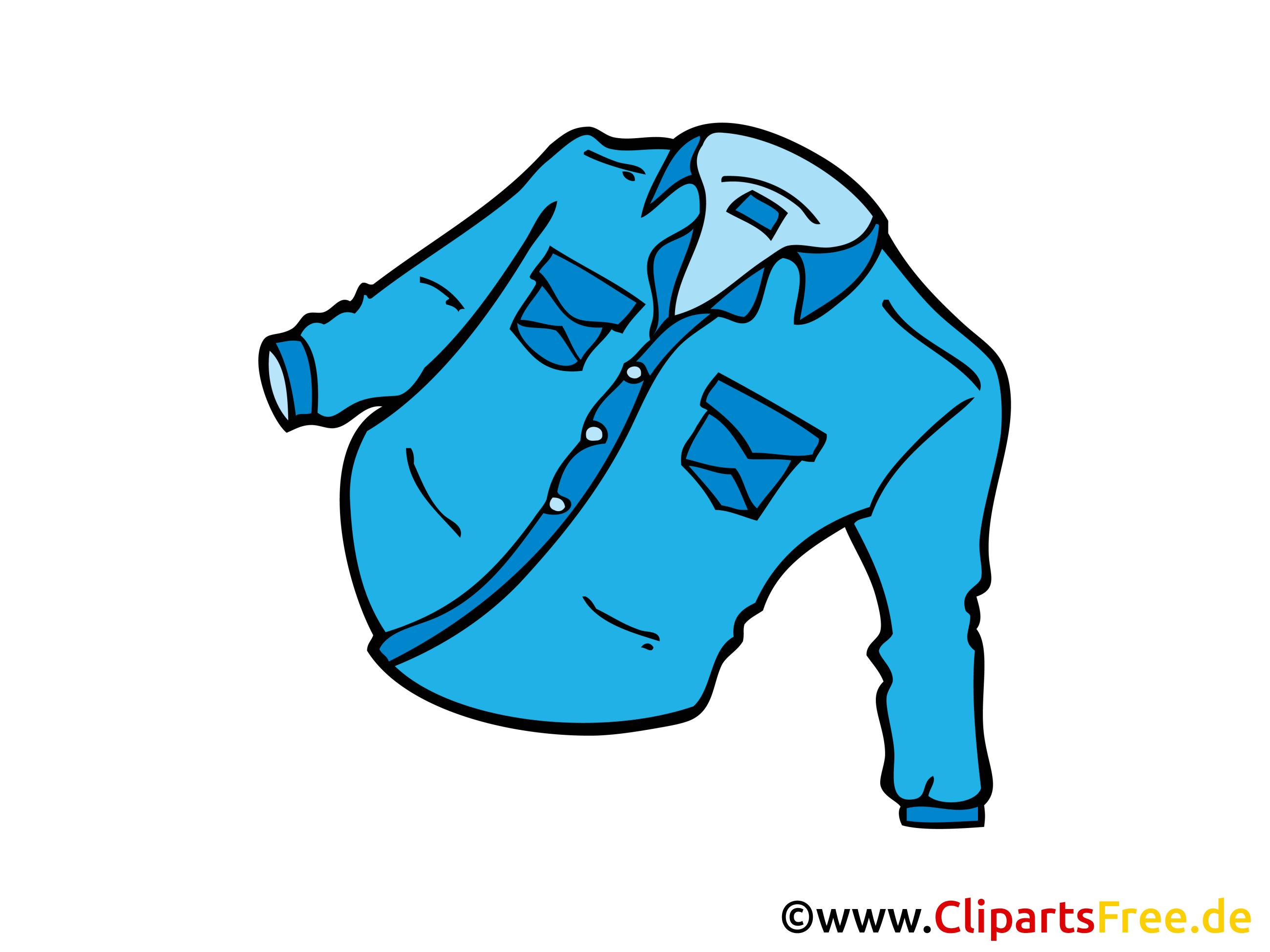 Jeans Hemd Bild Clipart Zeichnung Illustration Comic