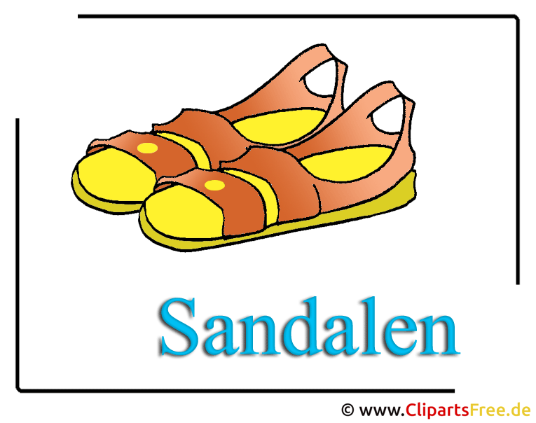 sandalen clipart free download. Black Bedroom Furniture Sets. Home Design Ideas