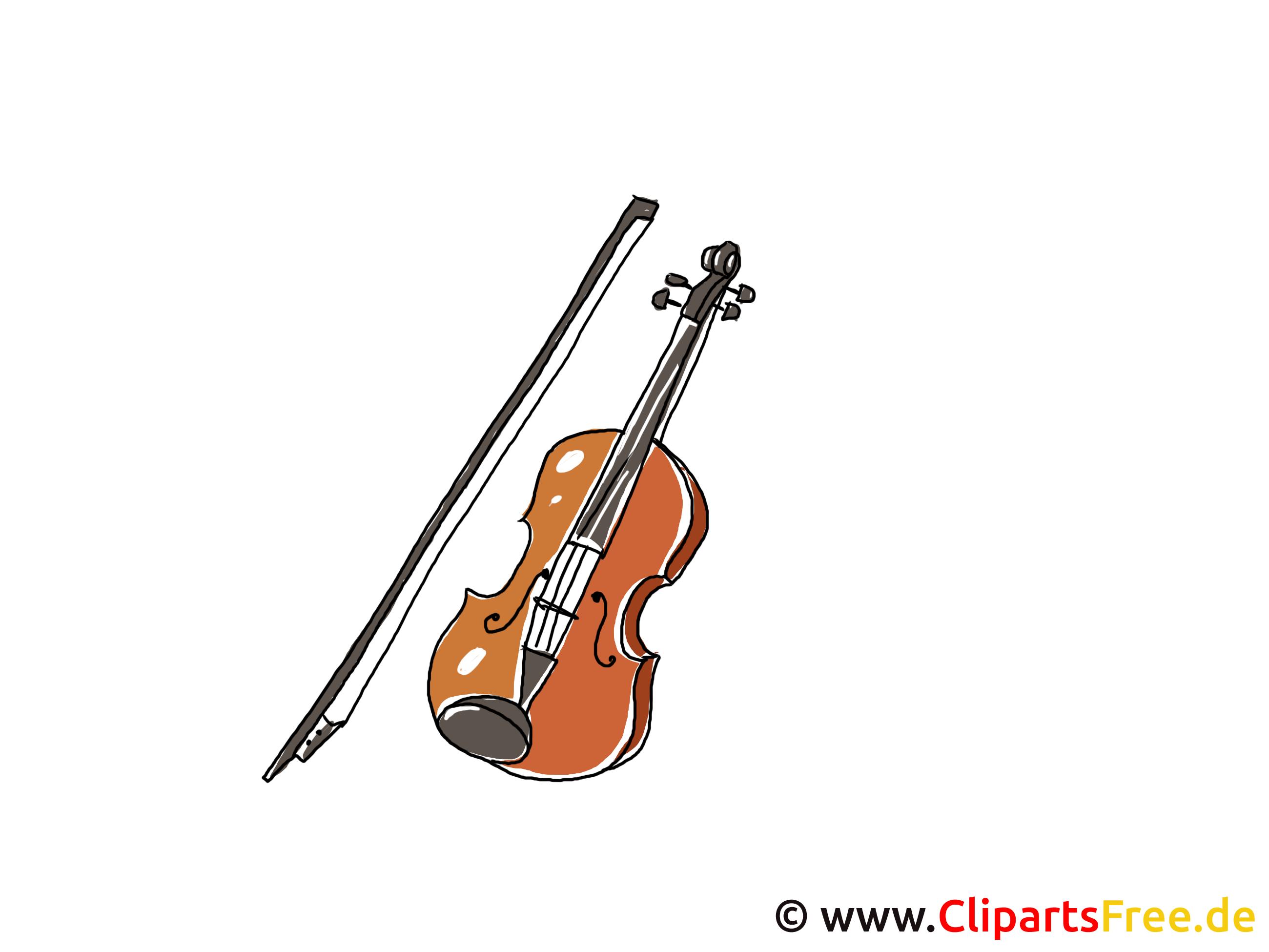 viool met strijkstok clipart