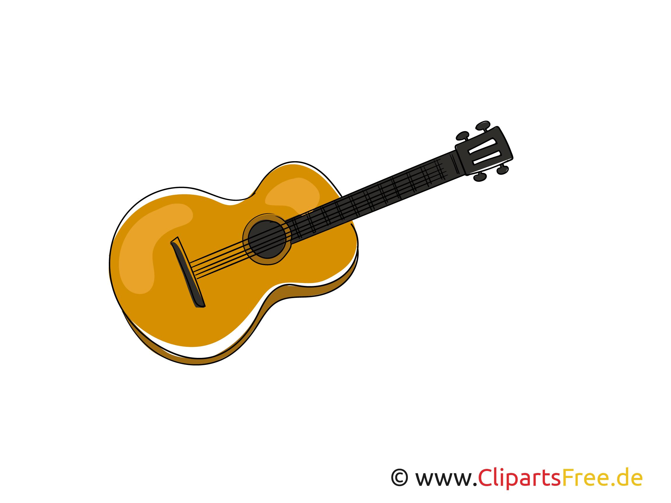Gitarre Bild, Clipart, Grafik, Cartoon