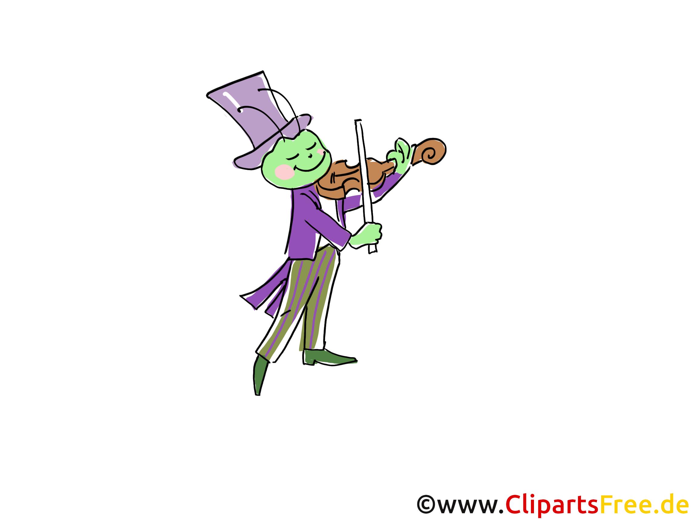 Heuschrecken spielt Geige Comic, Cartoon, Clipart, Bild ...