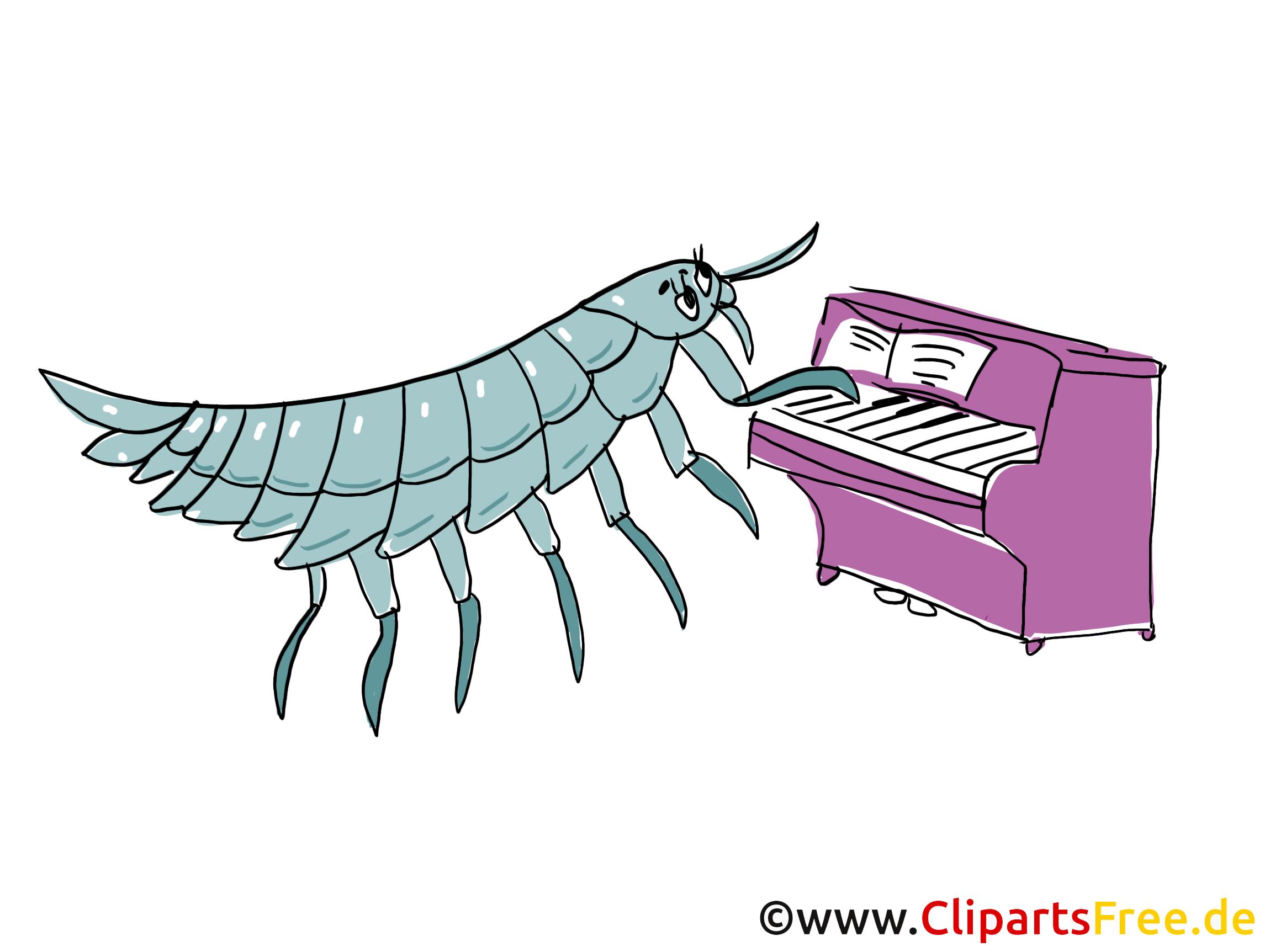 Klavier spielen Comic, Cartoon, Clipart, Bild, Zeichnung ...
