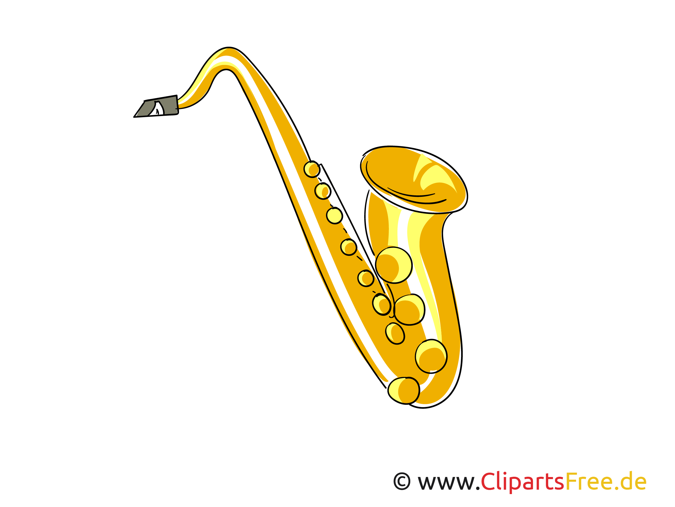 Saxophon, Saxofon Bild, Clipart zum Drucken