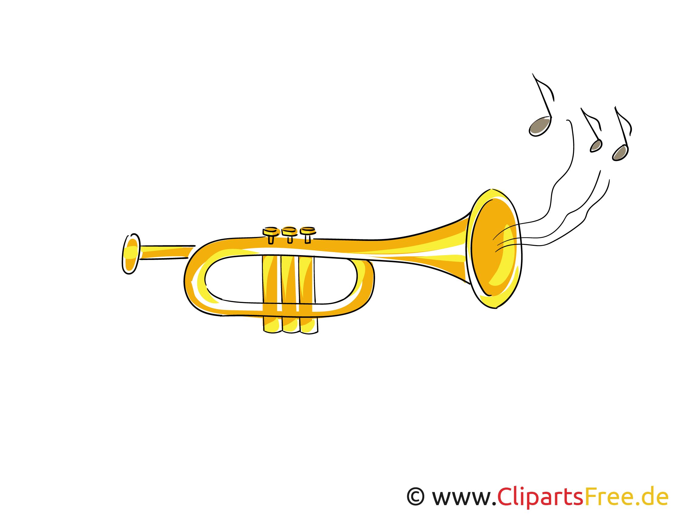 Trompete Cliparts, Bilder gratis